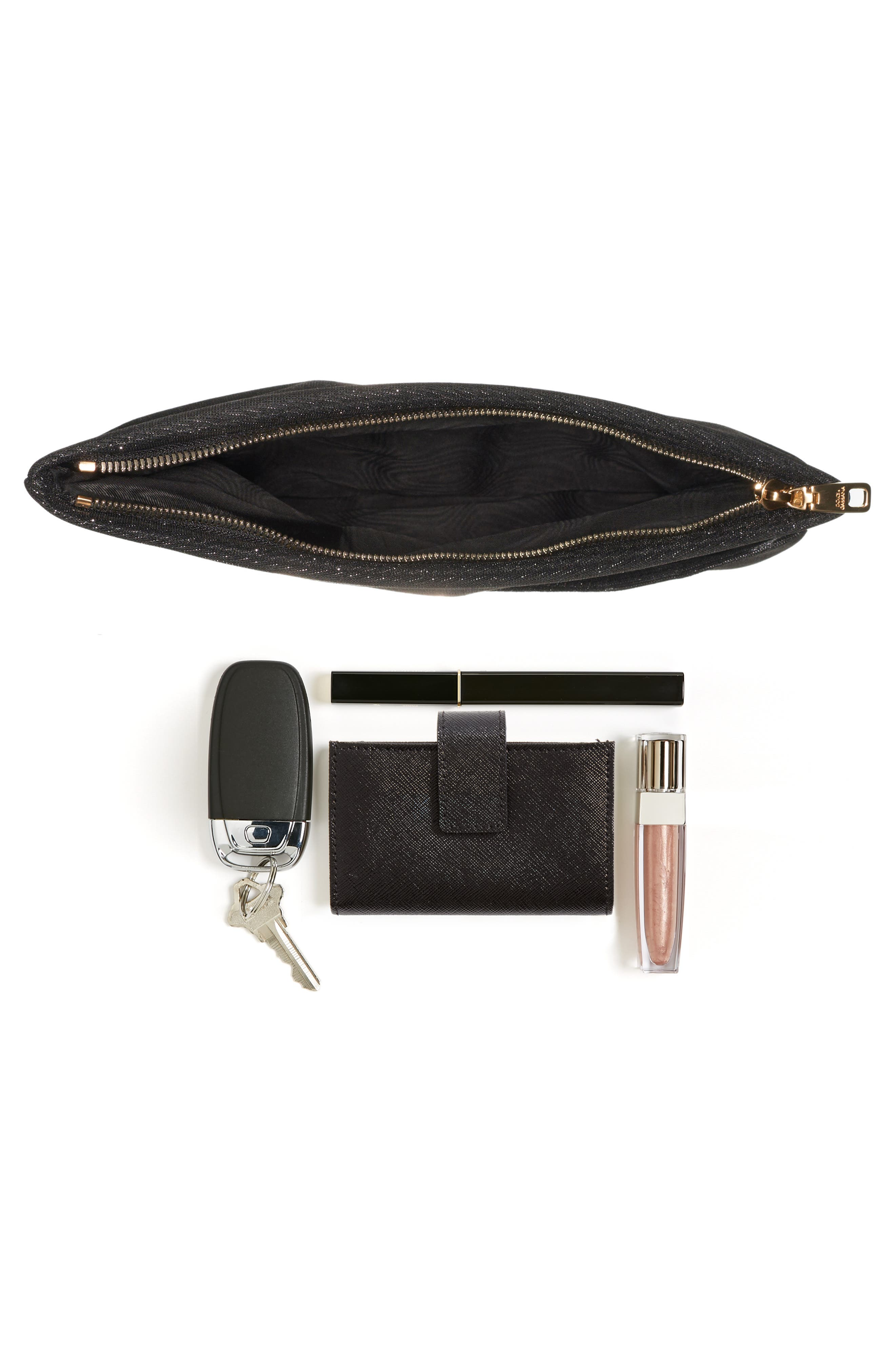 Hashtag Foldover Clutch,                             Alternate thumbnail 7, color,                             002