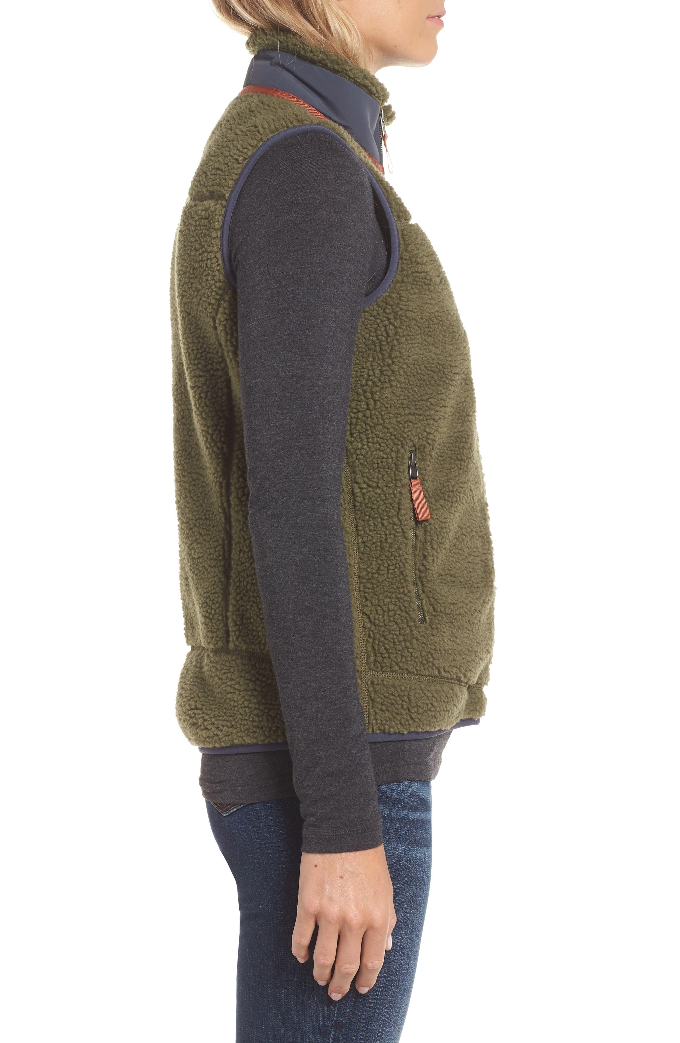 Classic Retro-X<sup>®</sup> Fleece Vest,                             Alternate thumbnail 3, color,                             FATIGUE GREEN