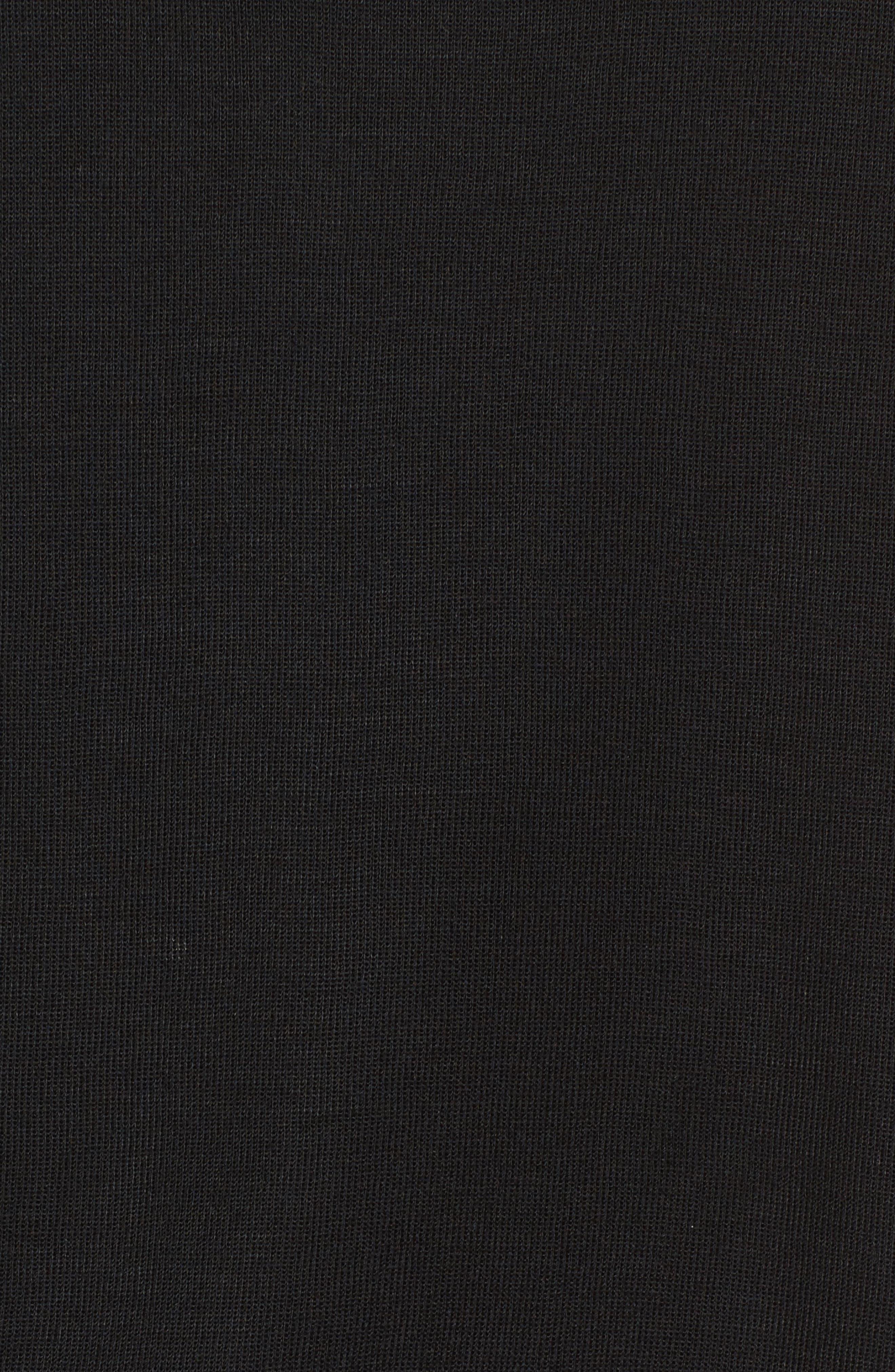 V-Neck Contrast Tank Top,                             Alternate thumbnail 5, color,                             BLACK/ WHITE