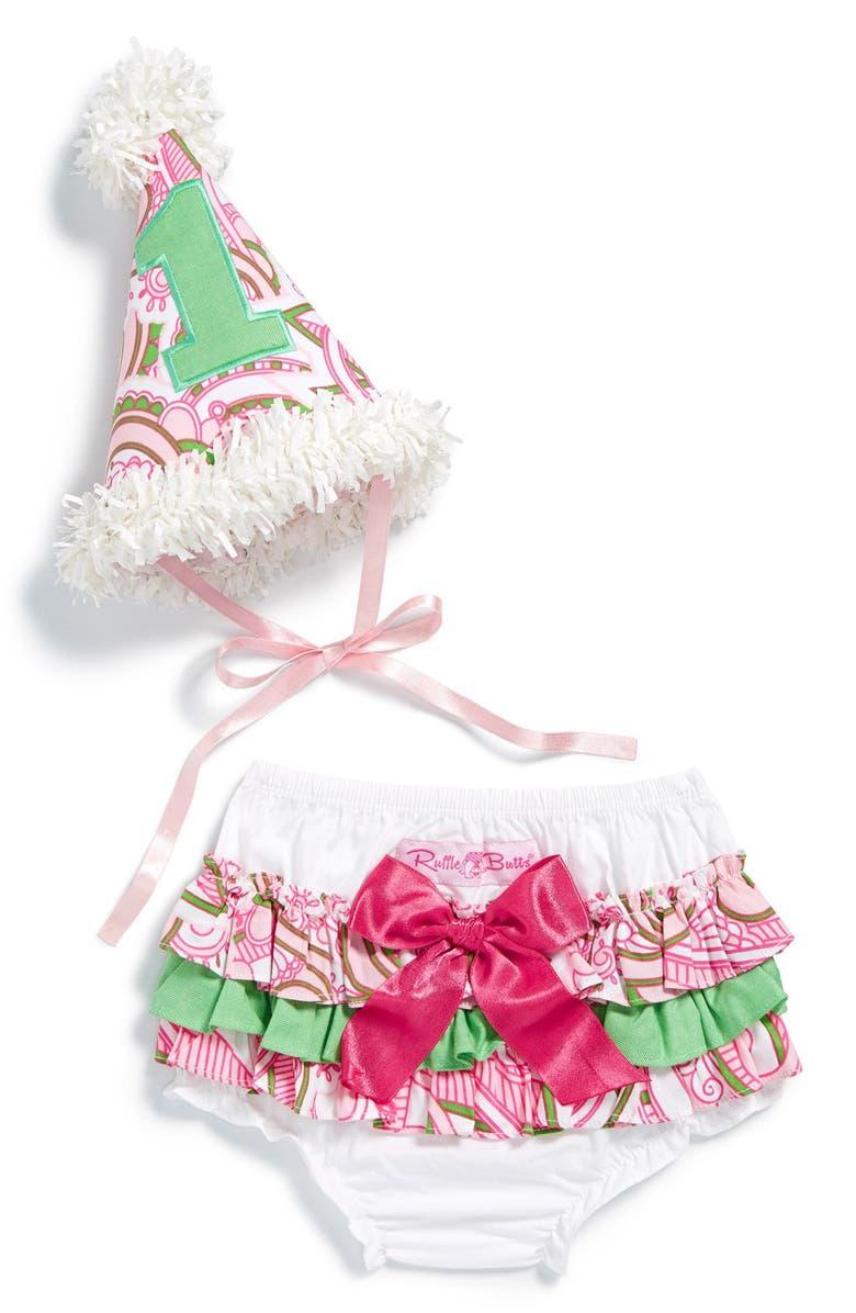 RUFFLEBUTTS 1st Birthday Hat Bloomers Main