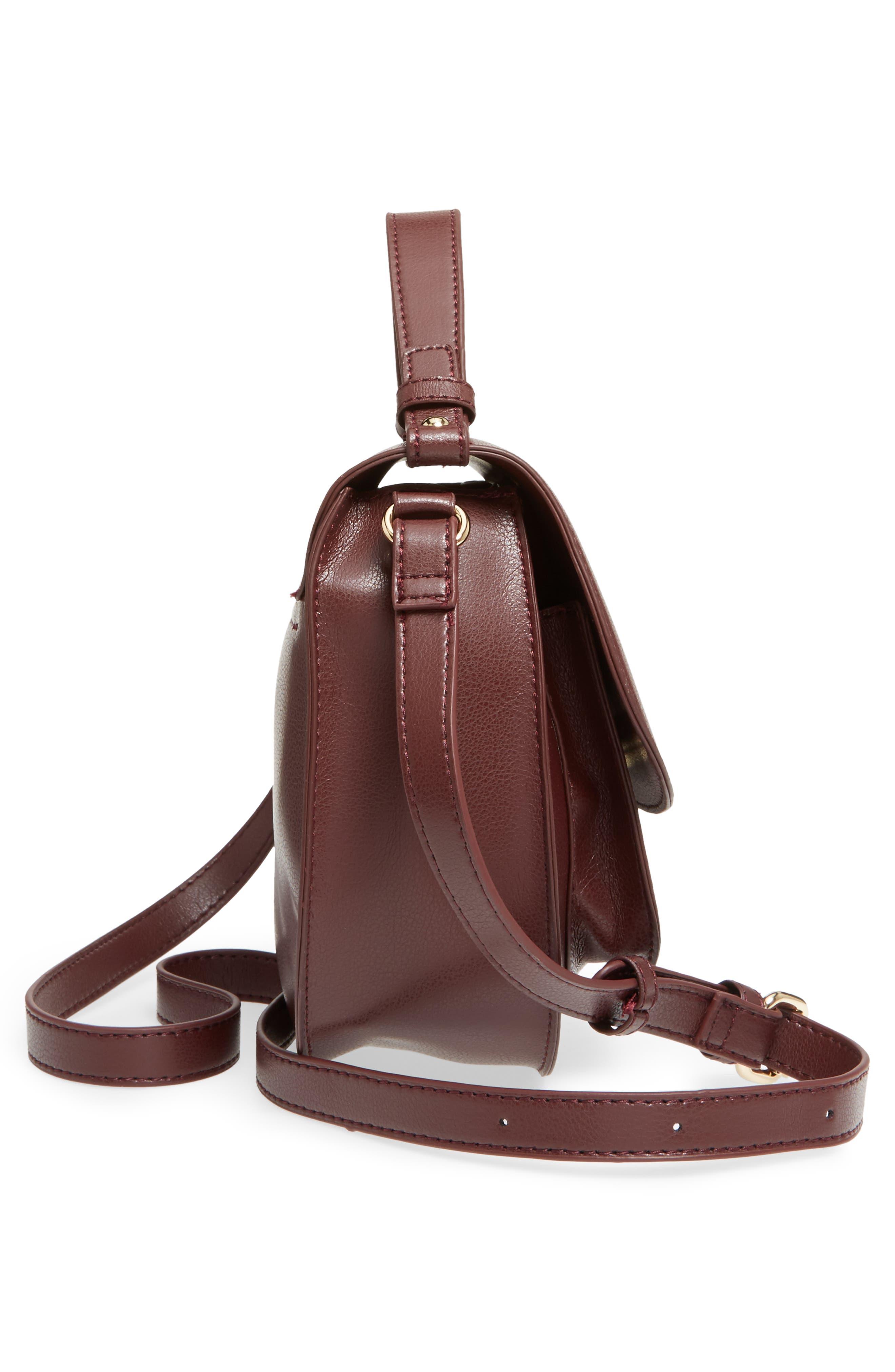 Faux Leather Crossbody Bag,                             Alternate thumbnail 10, color,