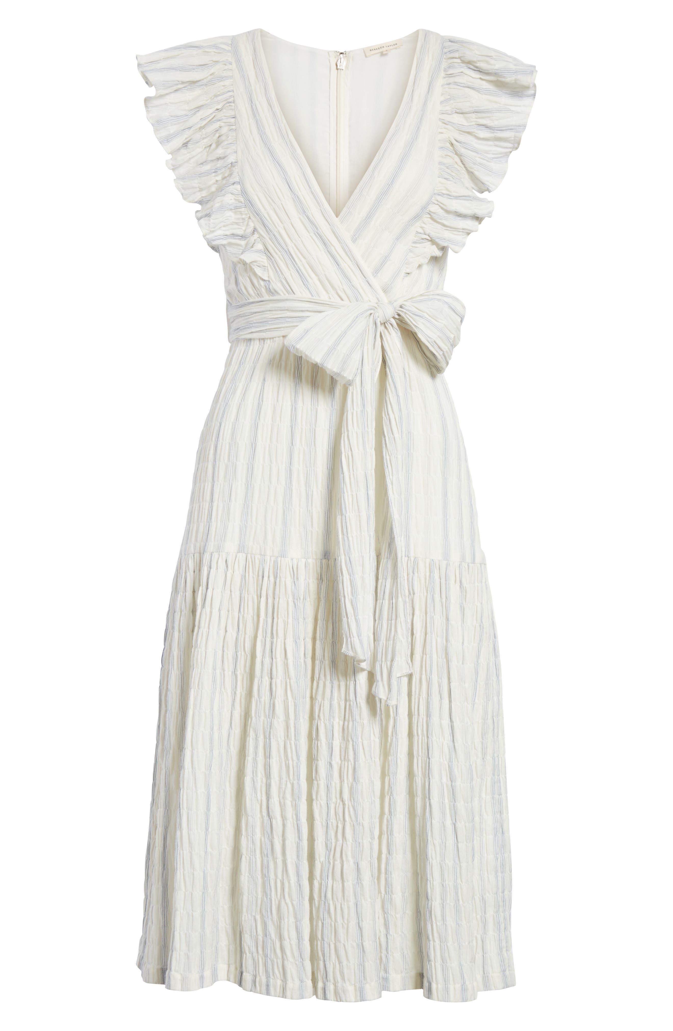 Stripe Midi Dress,                             Alternate thumbnail 6, color,                             103