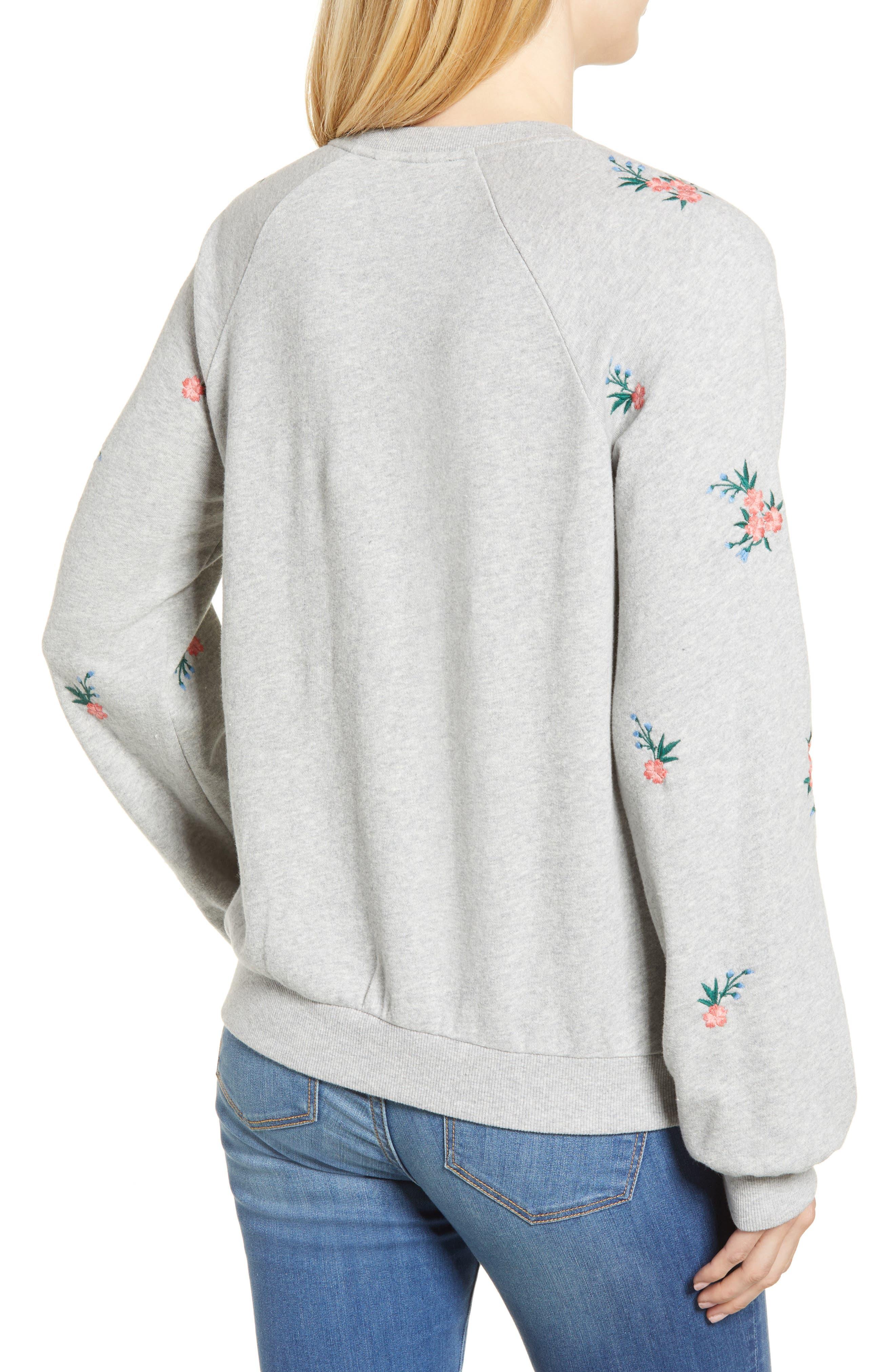 Embroidered Sweatshirt,                             Alternate thumbnail 2, color,                             030