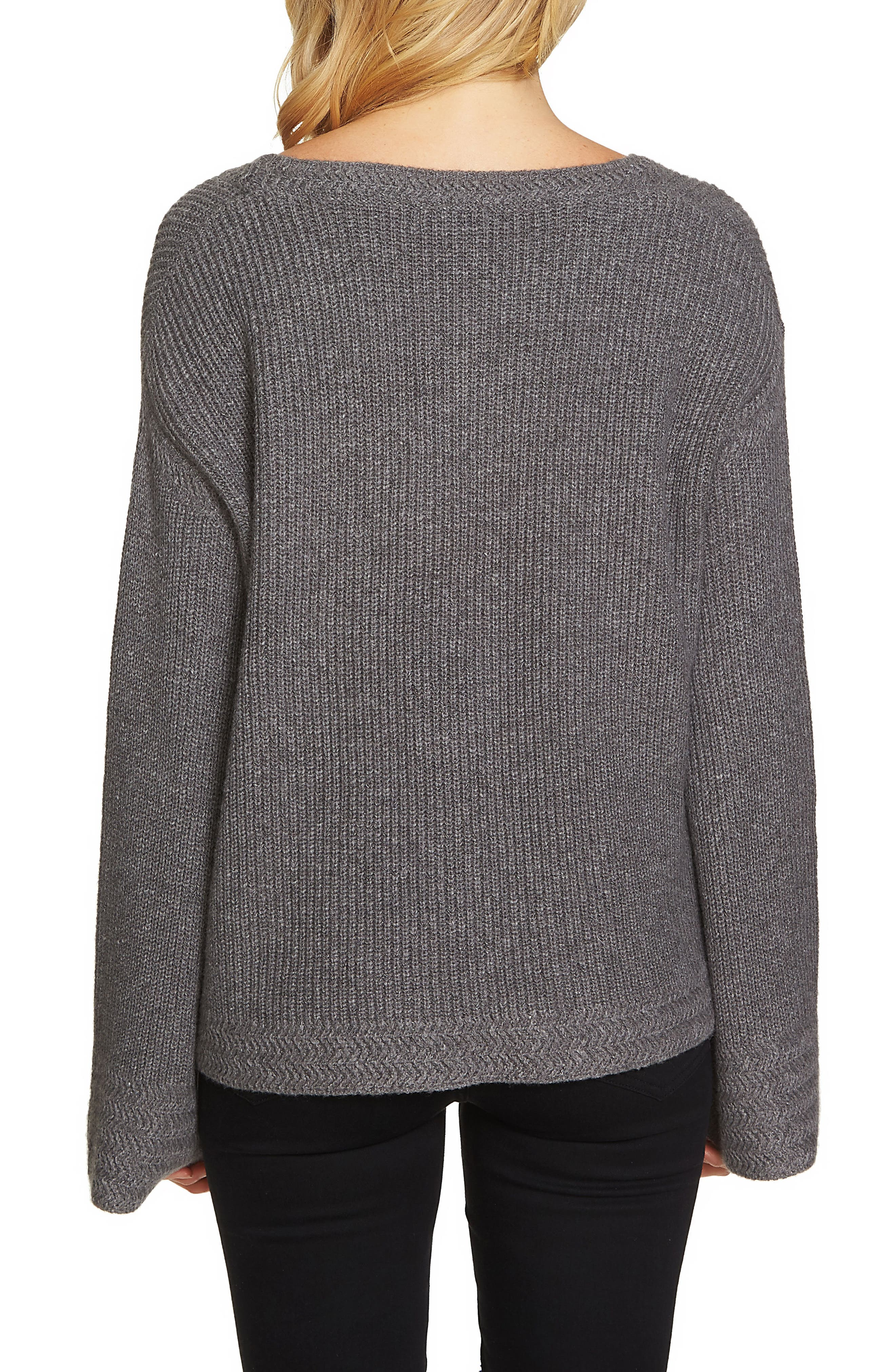 Bell Sleeve Sweater,                             Alternate thumbnail 2, color,                             021