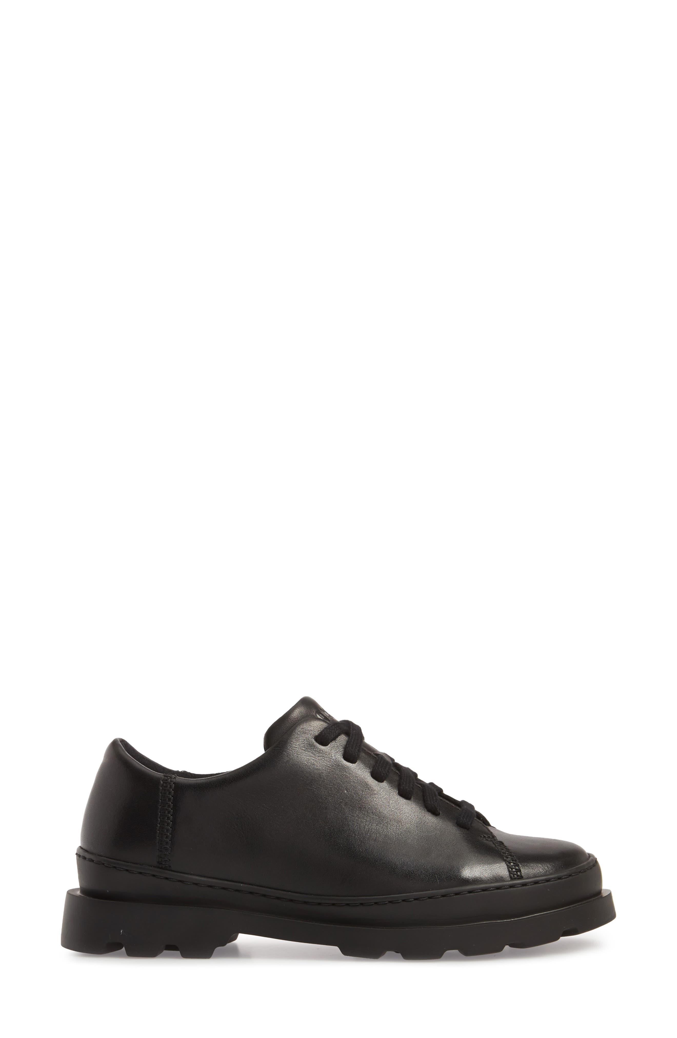 Brutus Sneaker,                             Alternate thumbnail 3, color,                             BLACK LEATHER