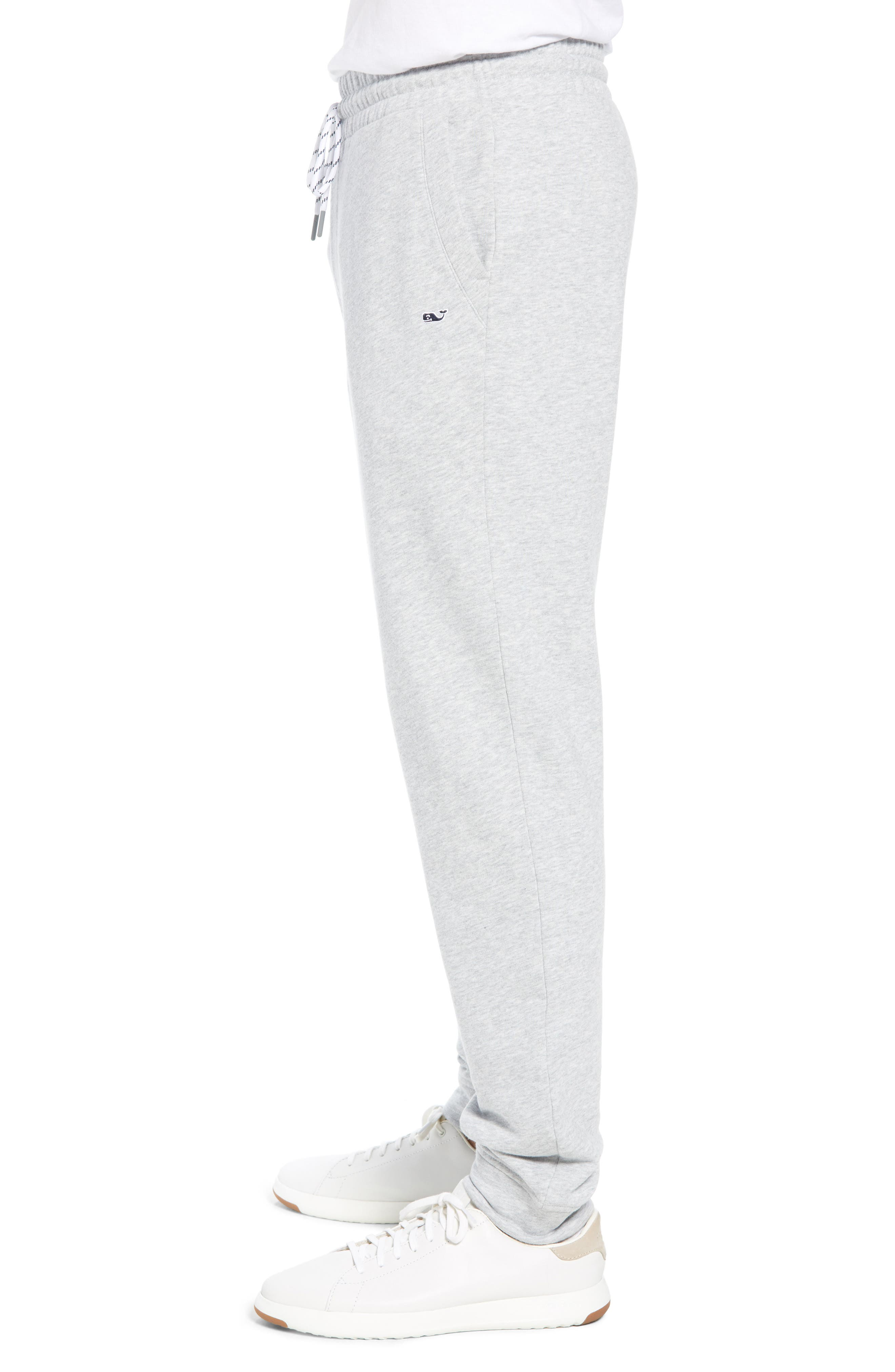 Heritage French Terry Knit Jogger Pants,                             Alternate thumbnail 3, color,                             GRAY HEATHER