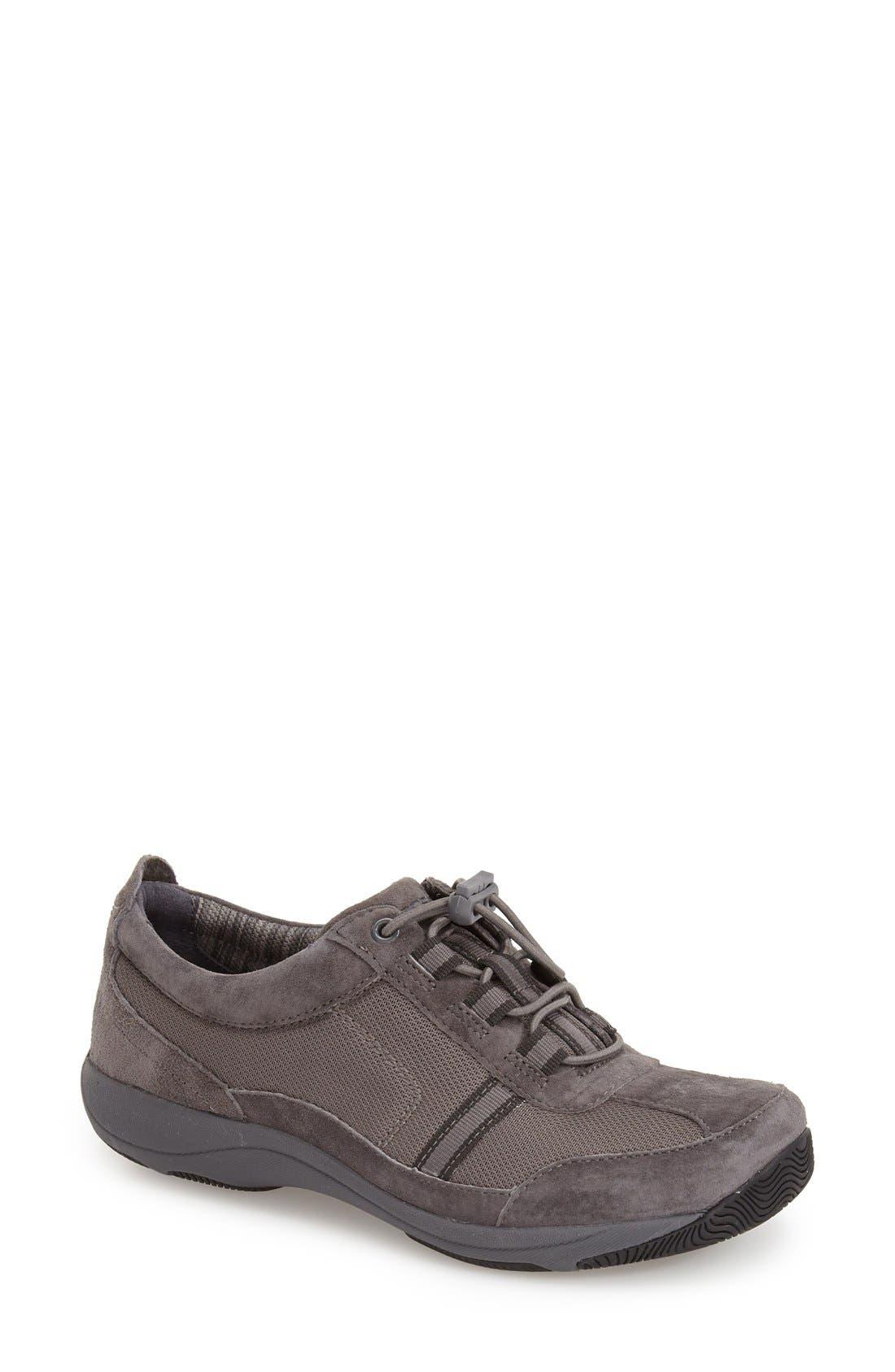 'Helen' Suede & Mesh Sneaker,                             Main thumbnail 6, color,