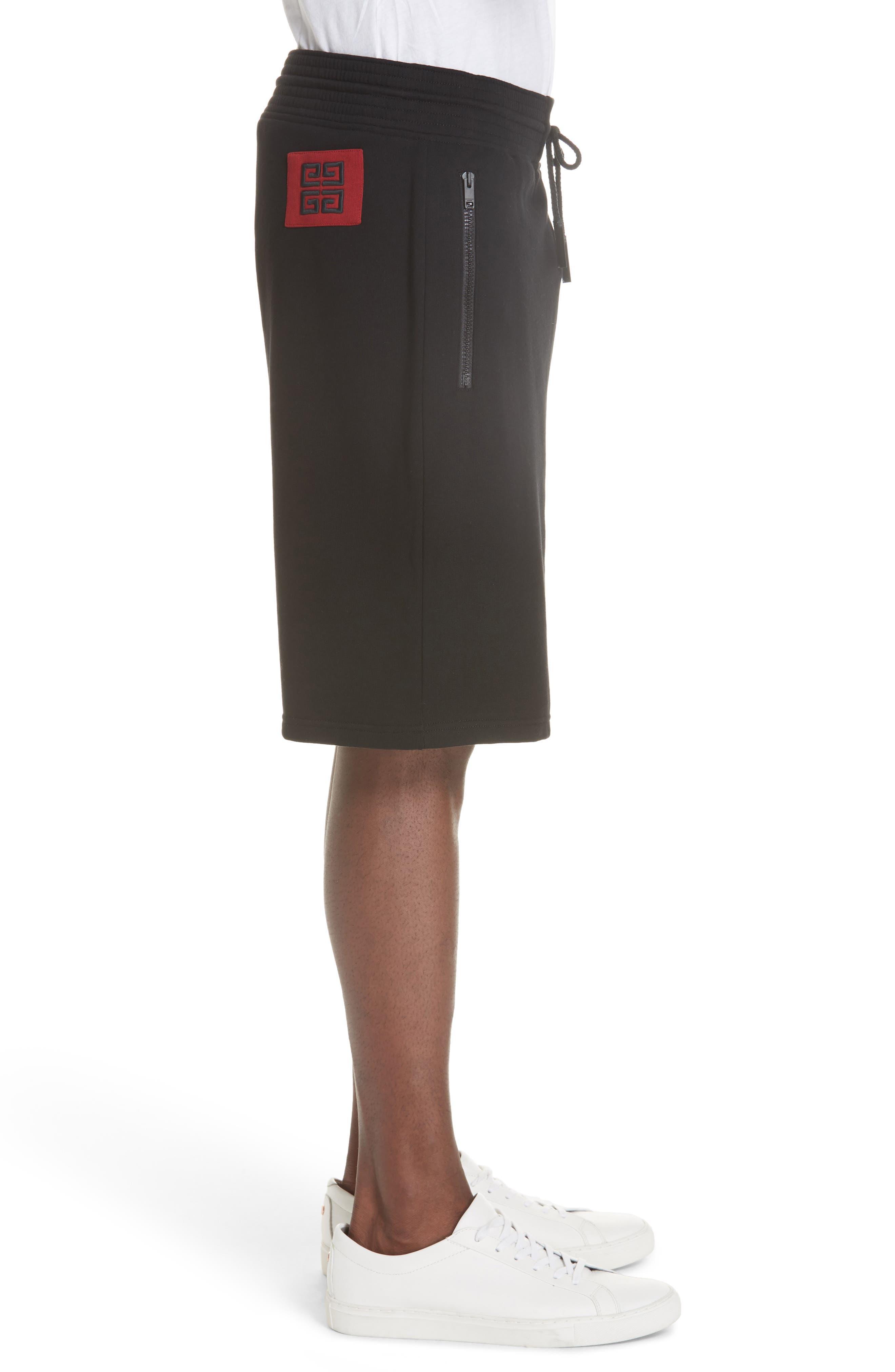 Knit Bermuda Shorts,                             Alternate thumbnail 3, color,                             BLACK