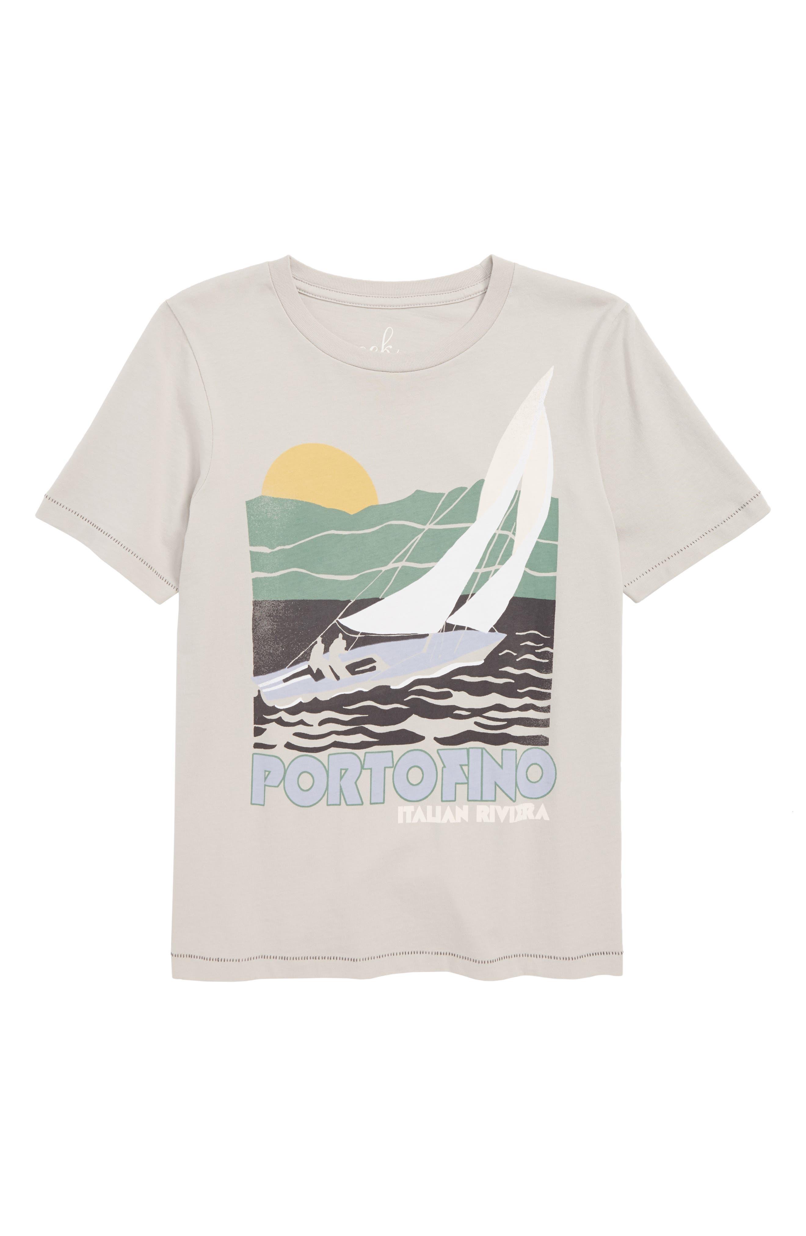 Portofino T-Shirt,                         Main,                         color, LIGHT GREY