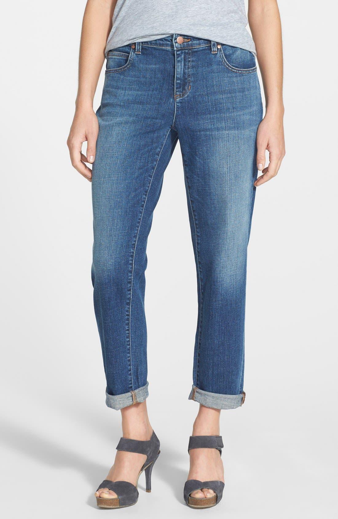 Organic Cotton Boyfriend Jeans,                         Main,                         color, 400