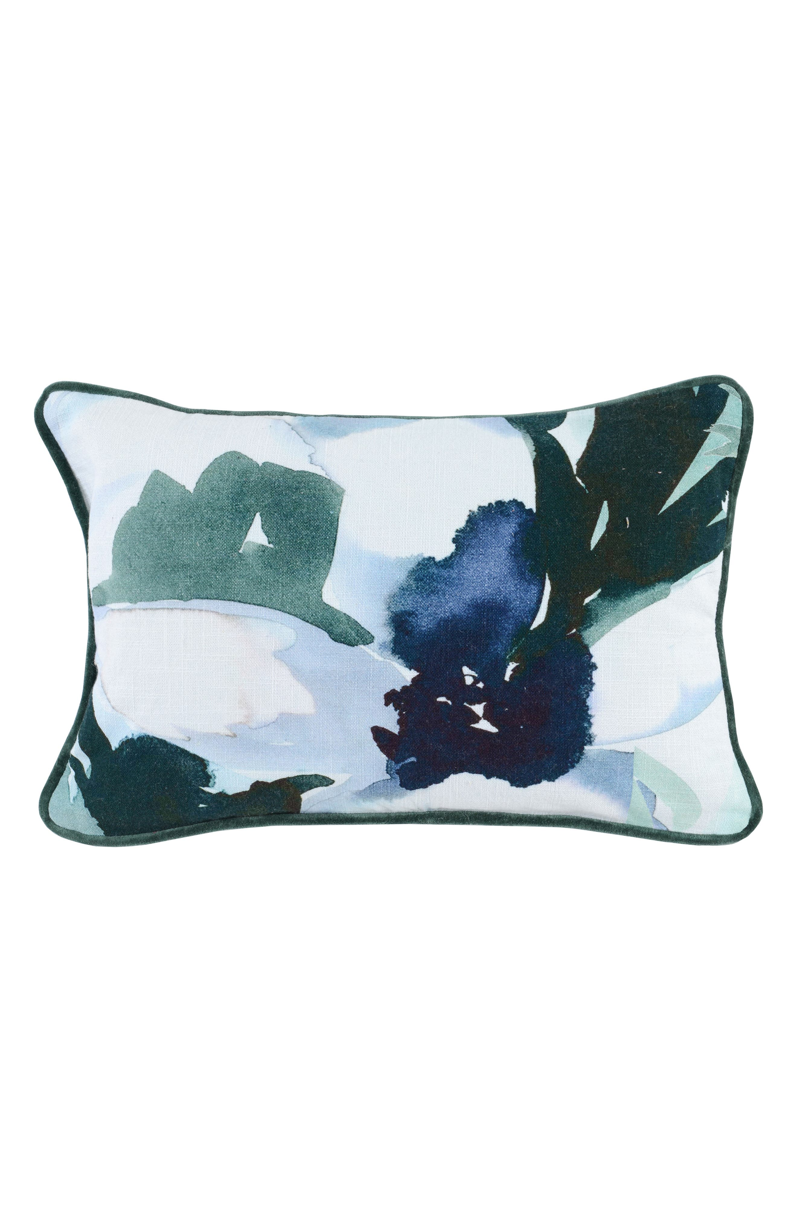 Abby Accent Pillow,                             Main thumbnail 1, color,                             NAVY/ GREEN