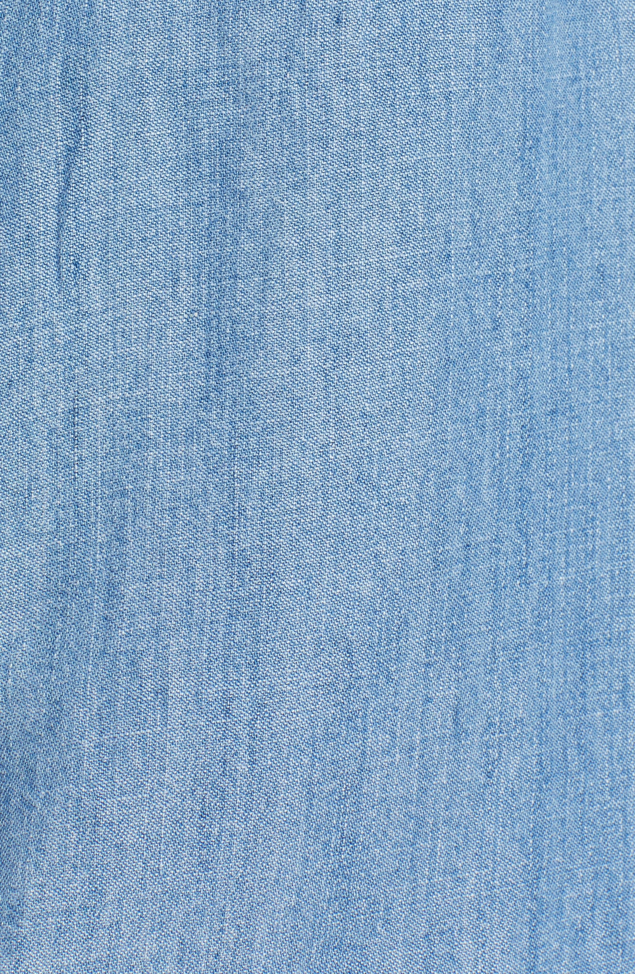 RAILS,                             Ingrid Embroidered Chambray Shirt,                             Alternate thumbnail 6, color,                             493