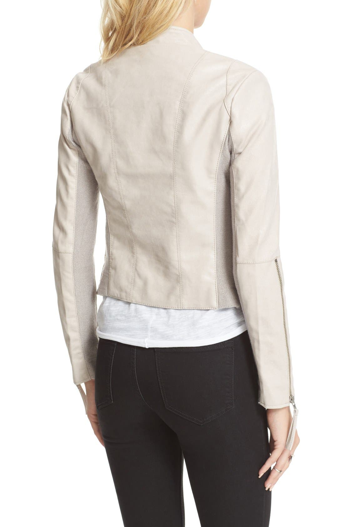 Faux Leather Jacket,                             Alternate thumbnail 32, color,