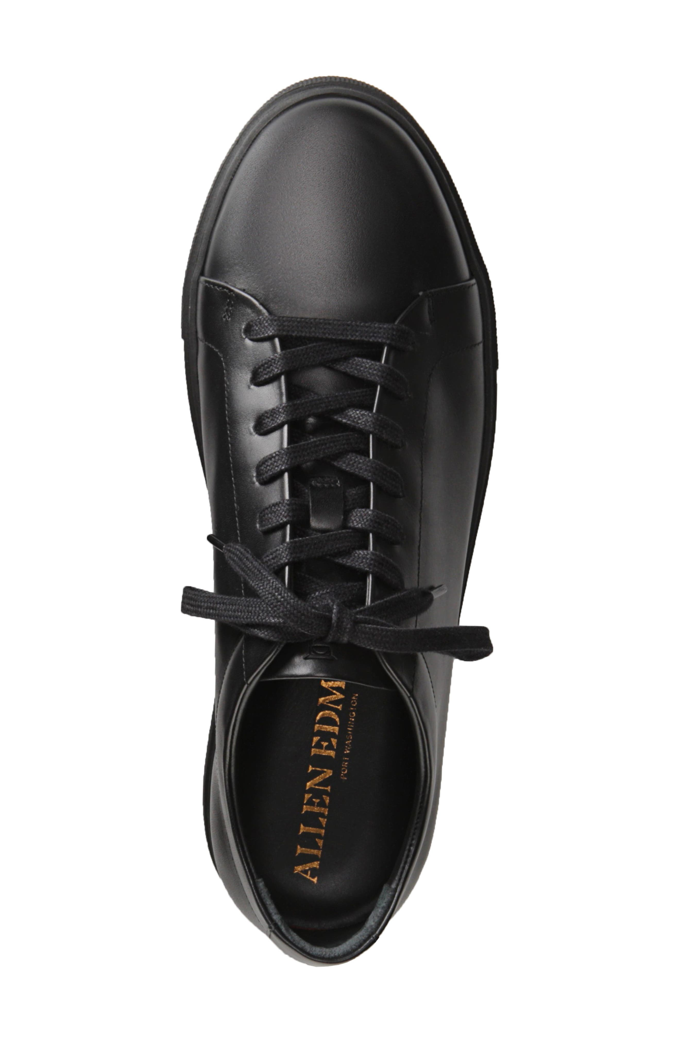 Canal Court Sneaker,                             Alternate thumbnail 5, color,                             BLACK LEATHER