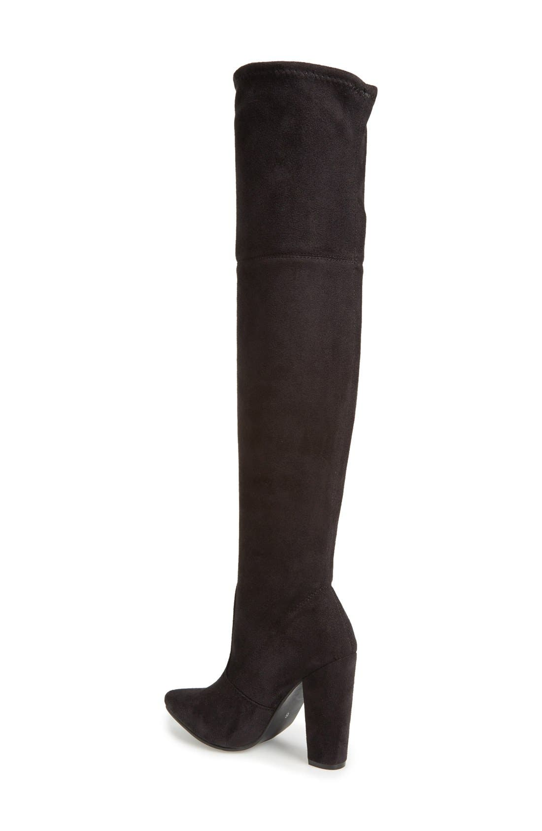 'Rocking' Over the Knee Boot,                             Alternate thumbnail 4, color,                             001