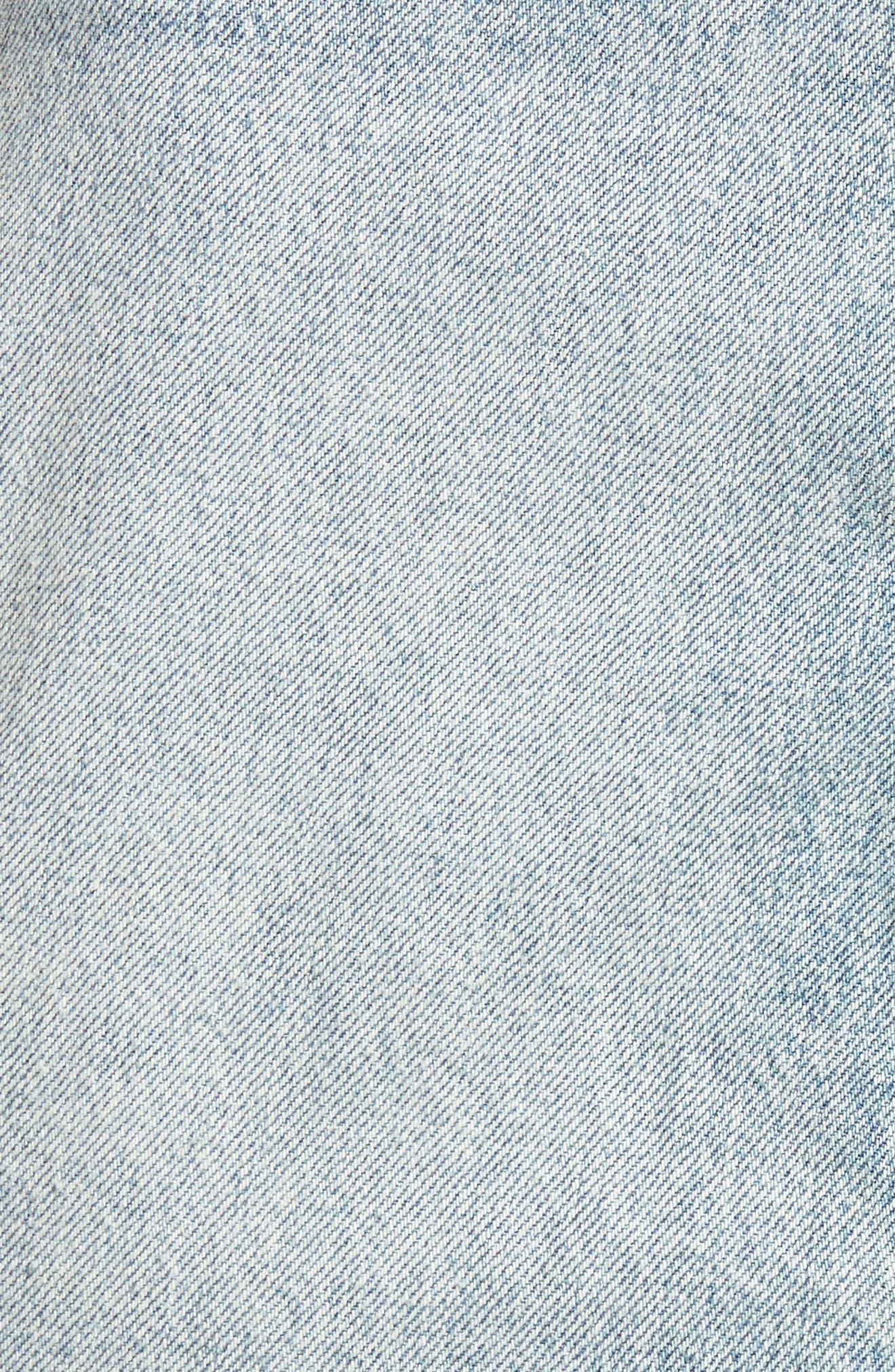 Vivid Cutoff Denim Miniskirt,                             Alternate thumbnail 6, color,