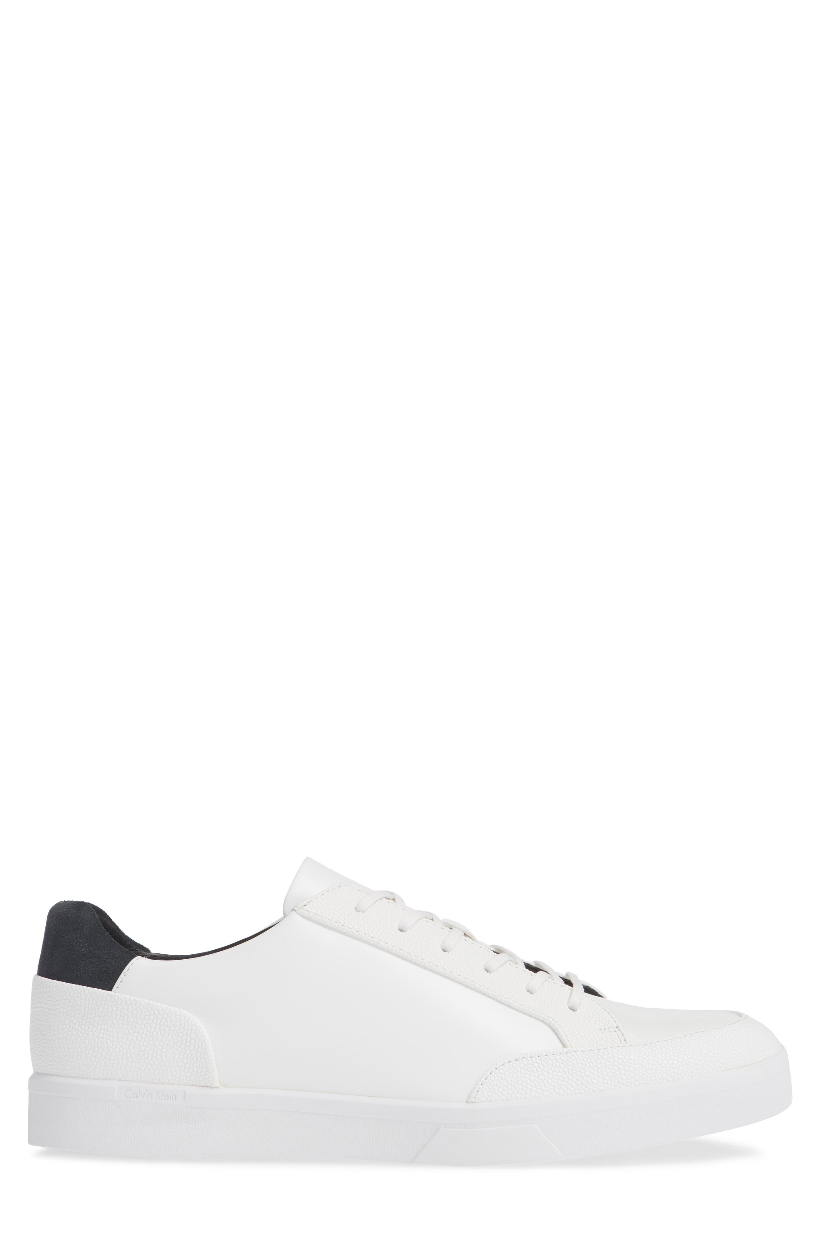 Izar Sneaker,                             Alternate thumbnail 3, color,                             WHITE LEATHER