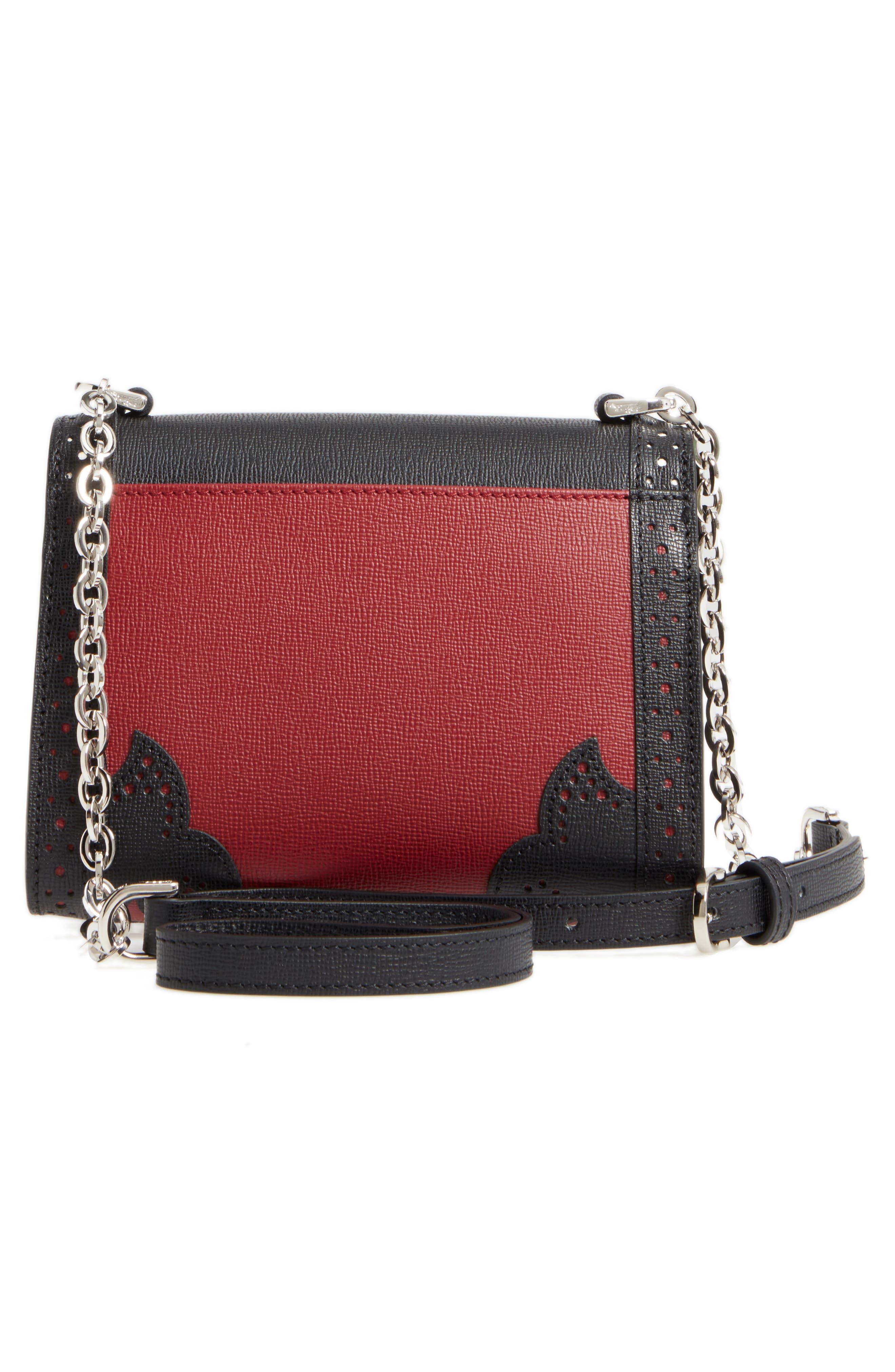LONGCHAMP,                             Effrontée Leather Crossbody Bag,                             Alternate thumbnail 3, color,                             618