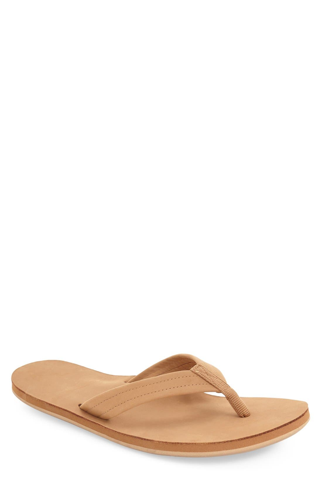 Fields Flip Flop,                             Main thumbnail 1, color,                             TAN/ ORANGE/ TAN