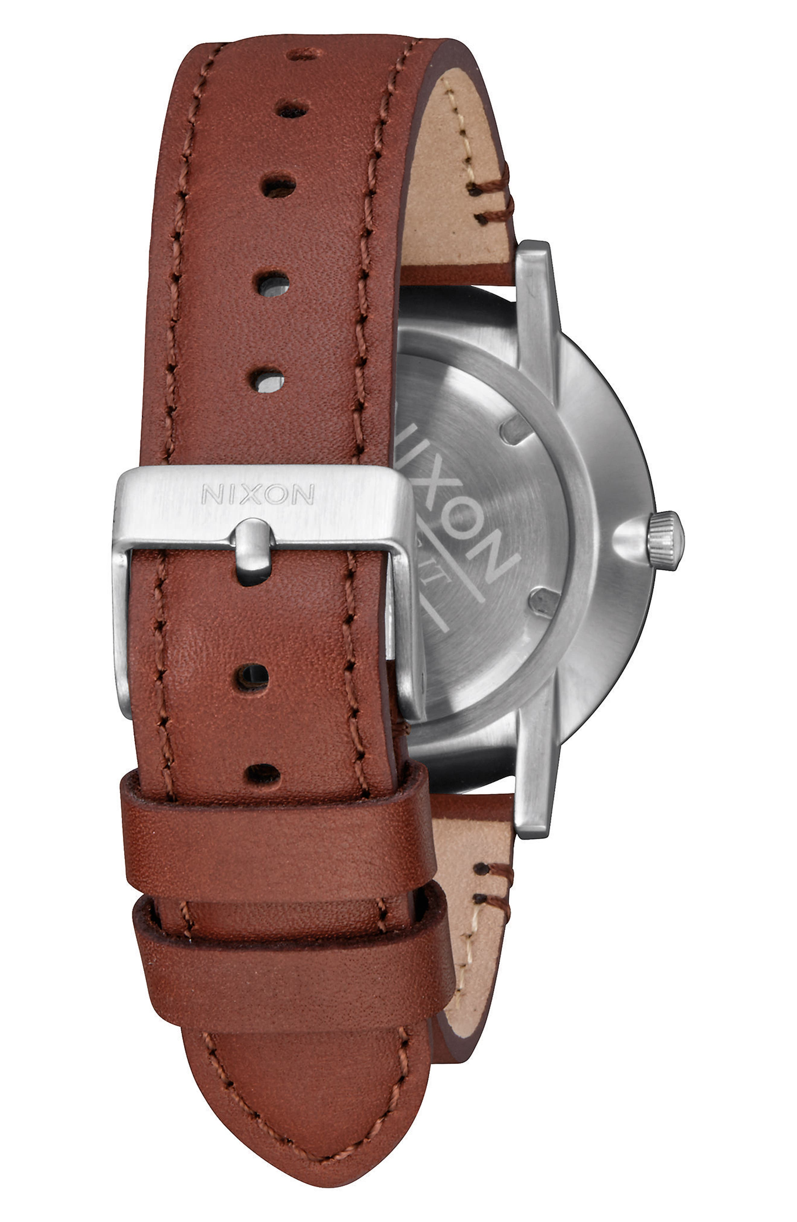 Porter Round Leather Strap Watch, 40mm,                             Alternate thumbnail 17, color,