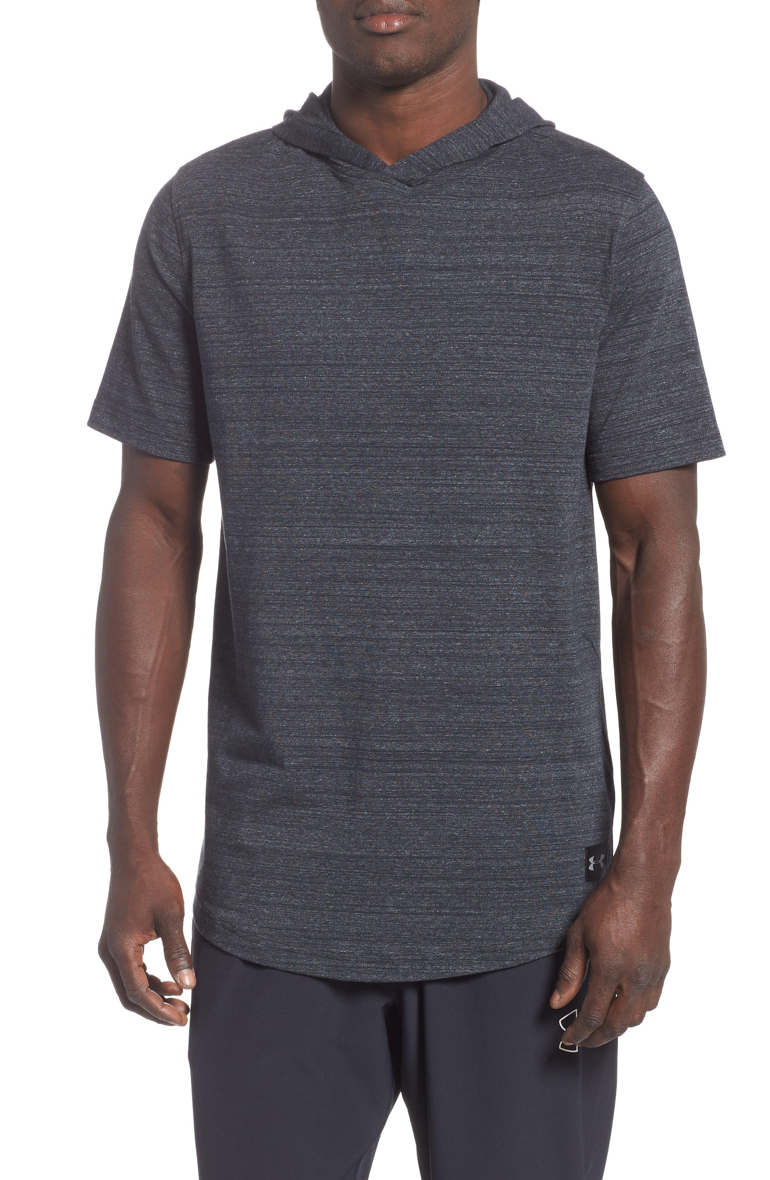 Under Armour Sportstyle Short Sleeve Hoodie, Black