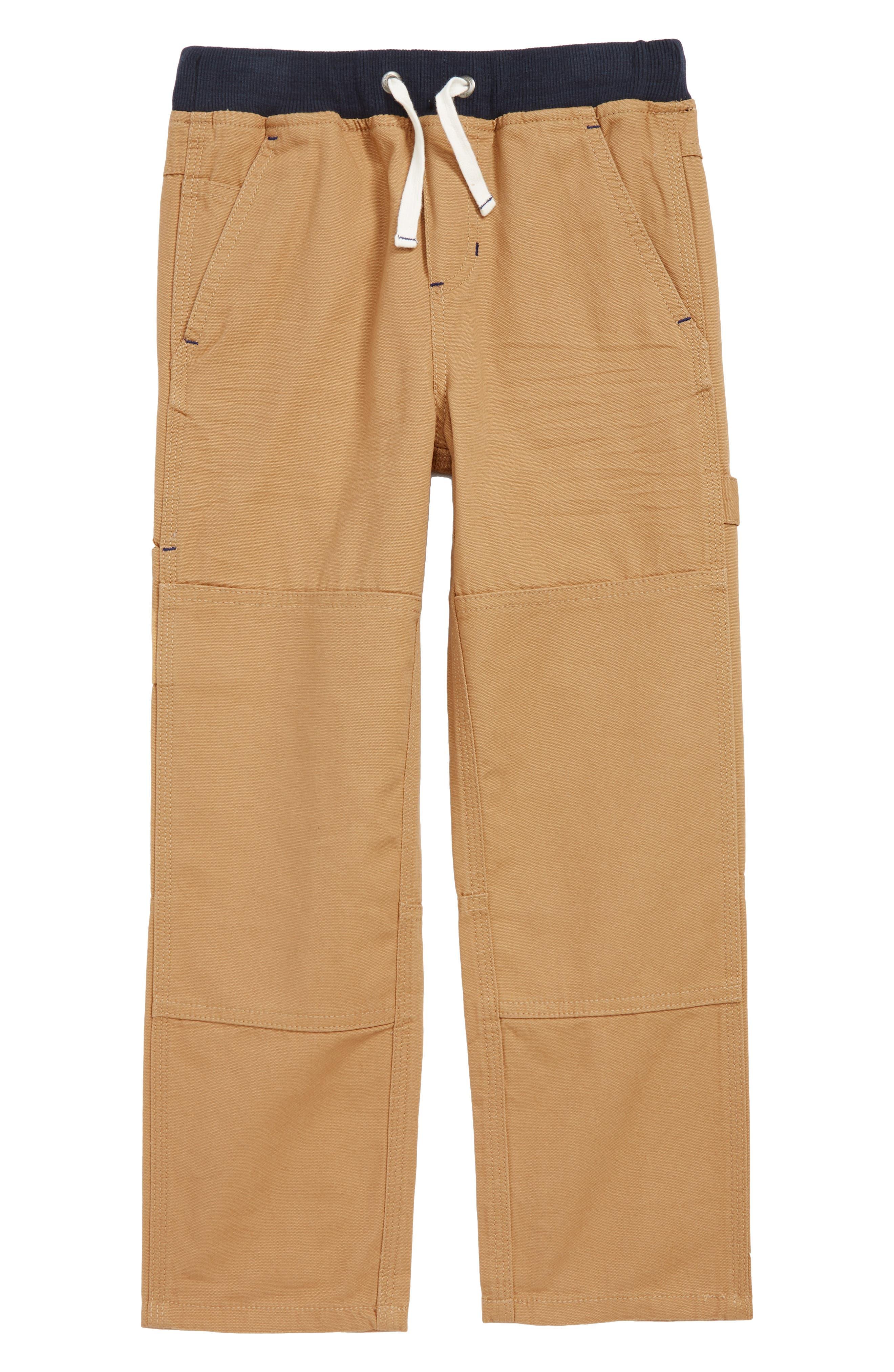Toddler Boys Mini Boden Rib Waist Carpenter Pants Size 3Y  Brown