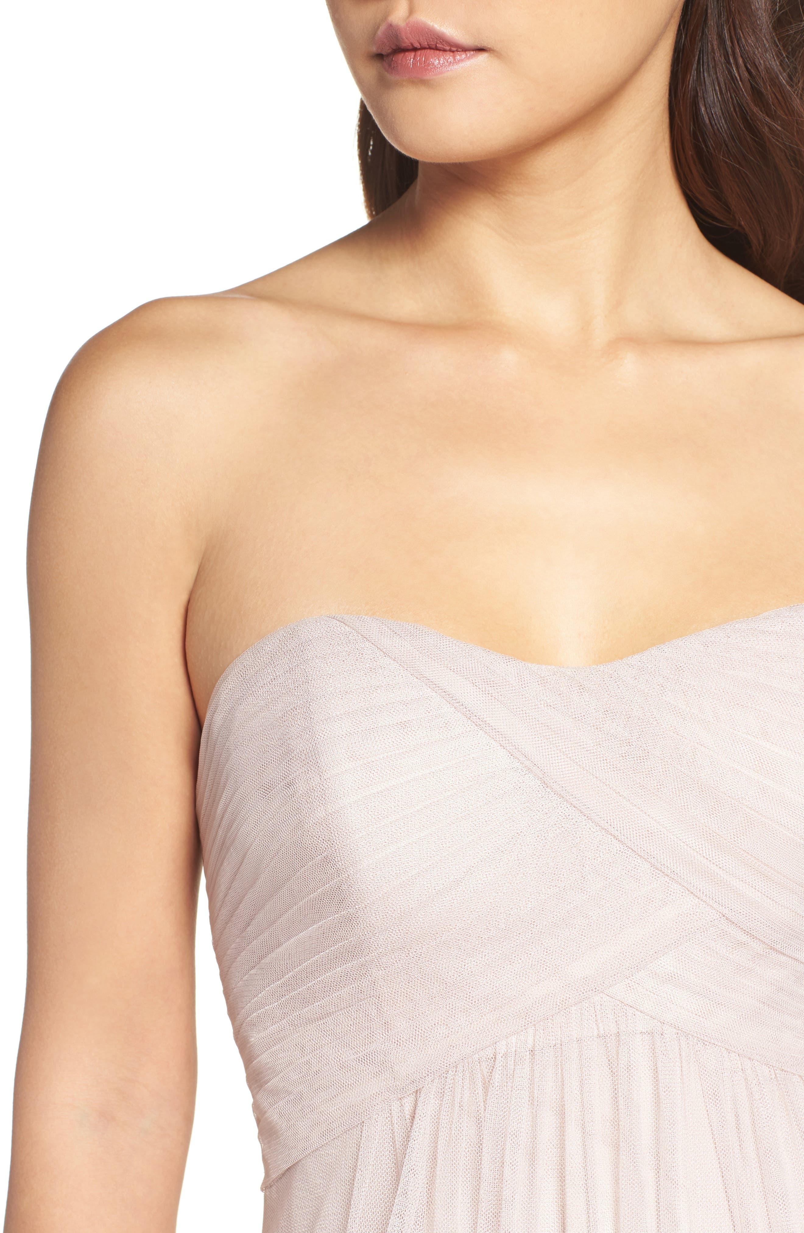 Strapless Tulle Gown,                             Alternate thumbnail 8, color,