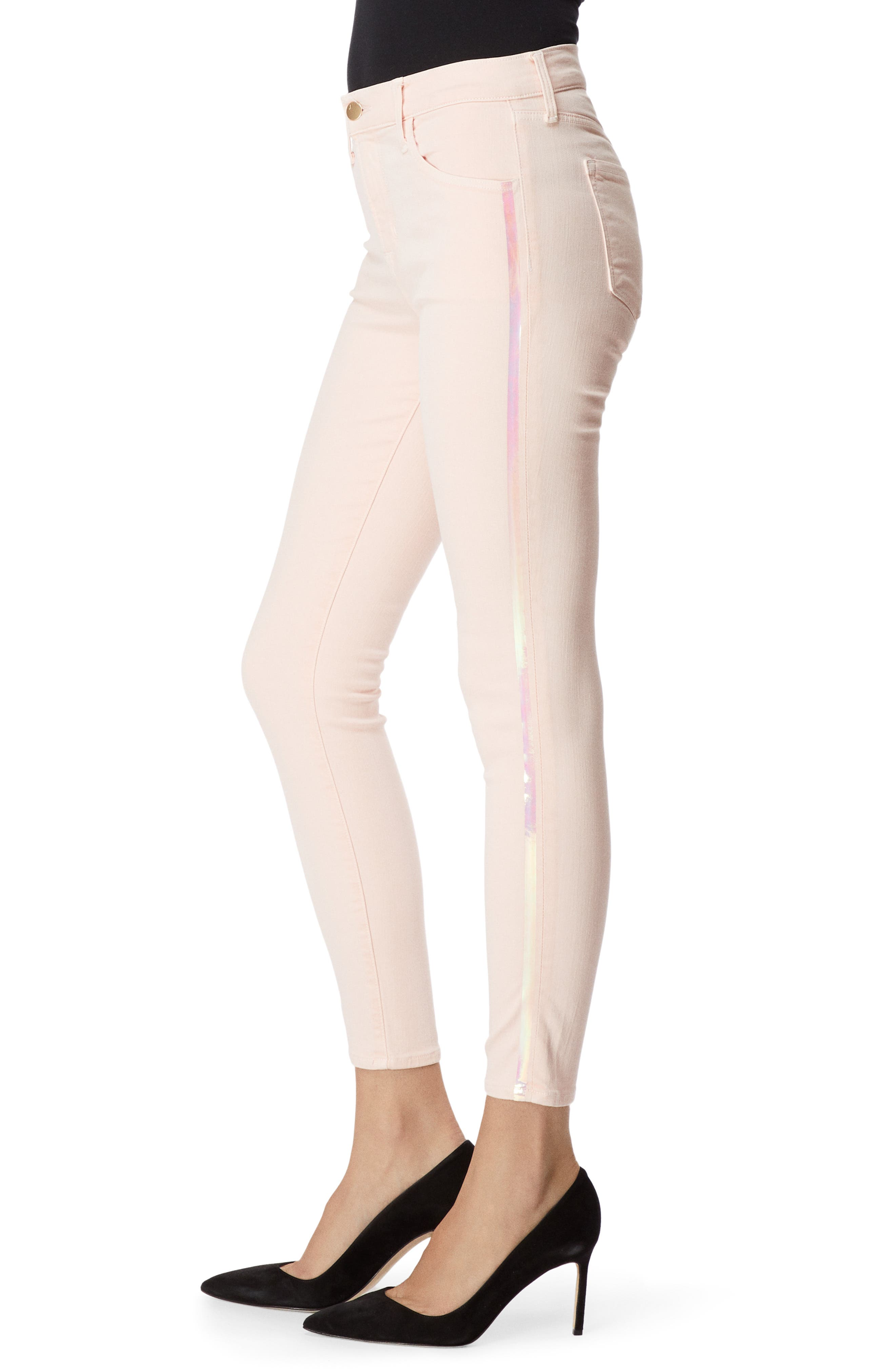 Alana High Waist Ankle Skinny Jeans,                             Alternate thumbnail 3, color,                             DISTRESSED LULLED