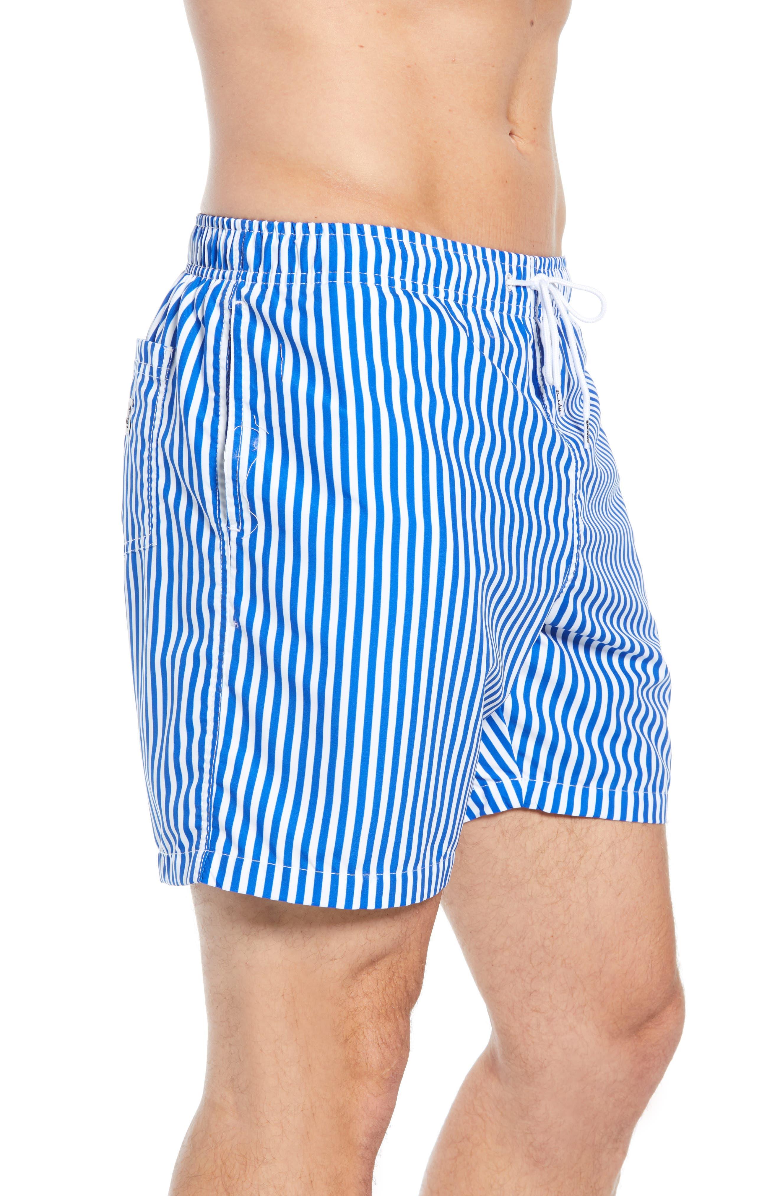 Deck Stripes Swim Trunks,                             Alternate thumbnail 3, color,                             400