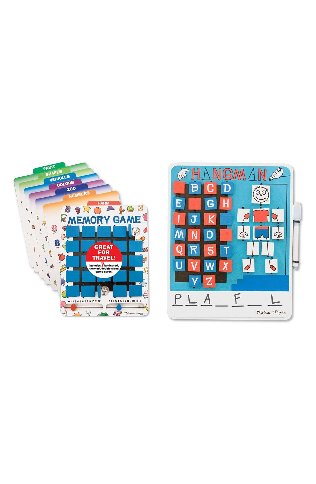 'Flip to Win' Hangman and Memory Games,                         Main,                         color, BLUE