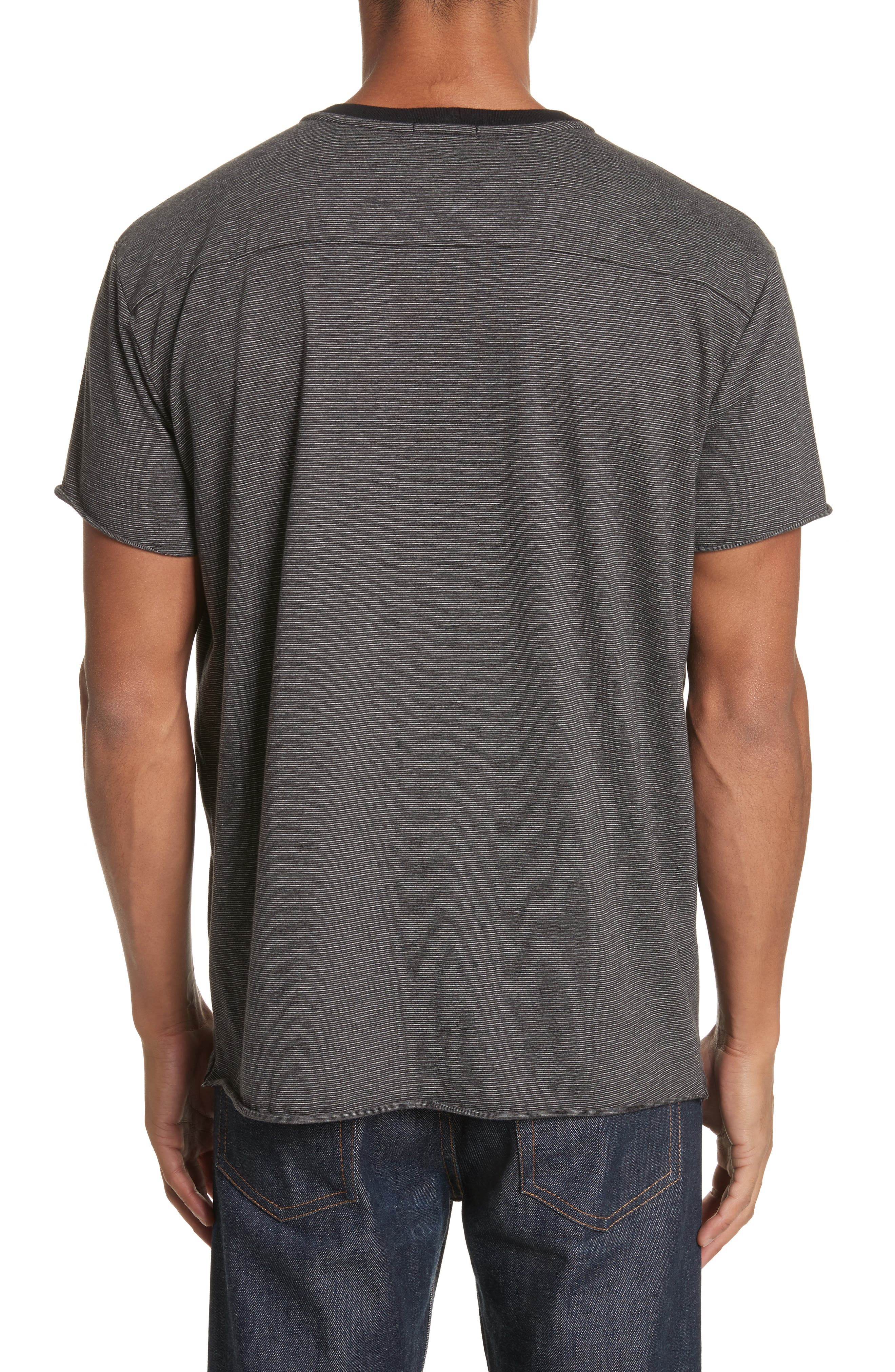 Oversize Stripe Pocket T-Shirt,                             Alternate thumbnail 2, color,