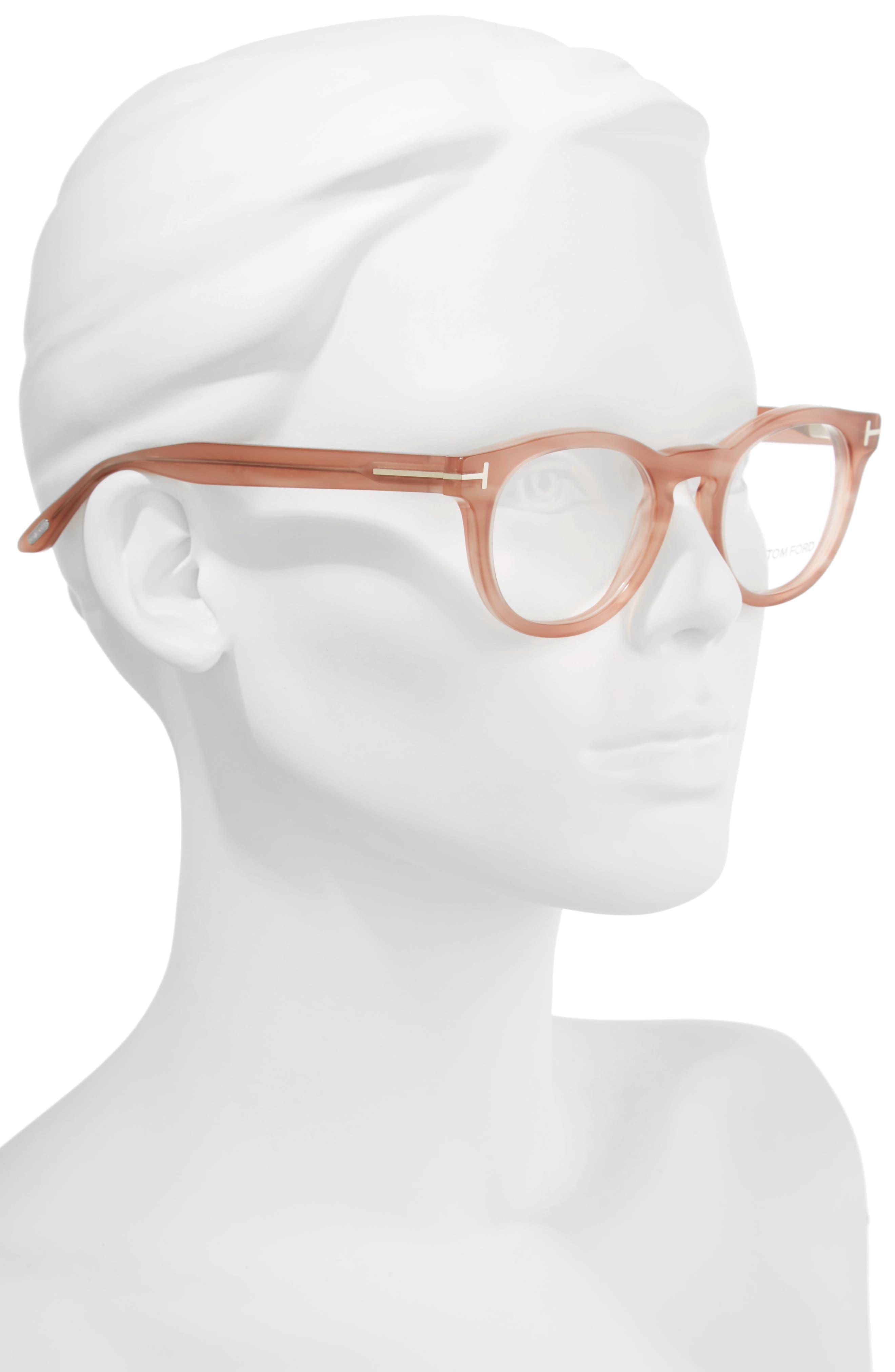48mm Round Optical Glasses,                             Alternate thumbnail 6, color,