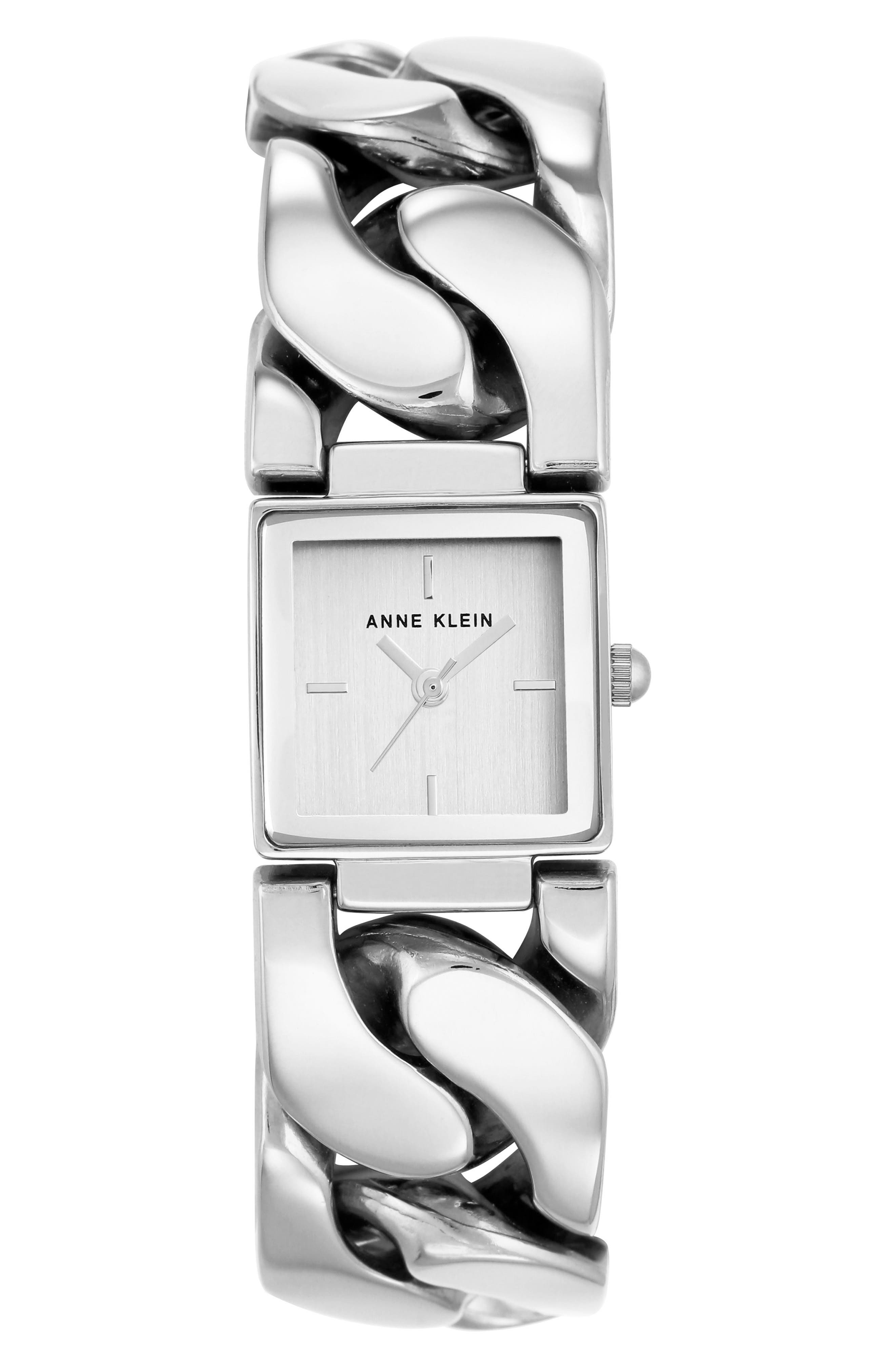 Bracelet Watch, 20.5mm,                             Main thumbnail 1, color,                             SILVER