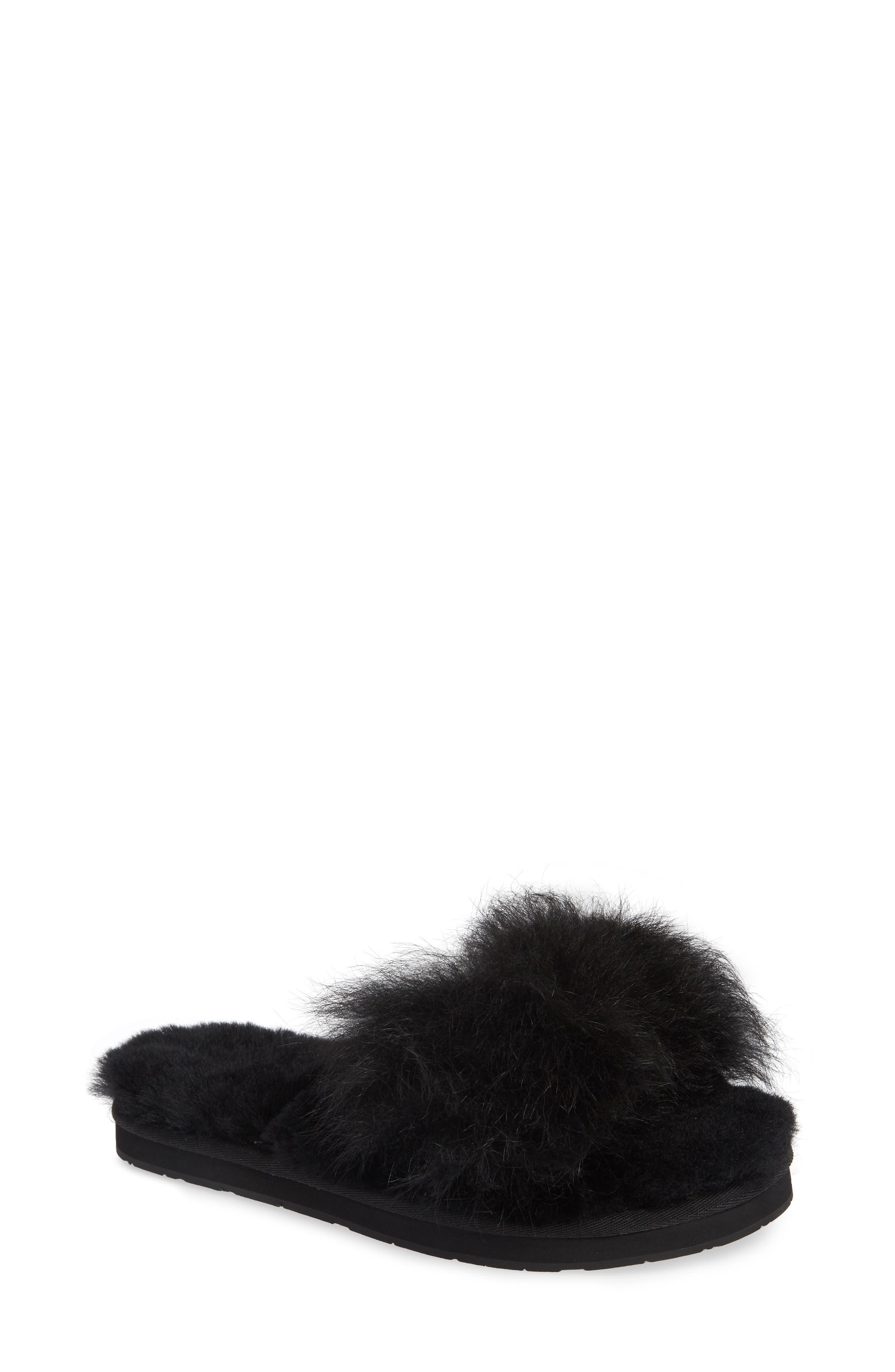Ugg Mirabelle Genuine Shearling Slipper, Black