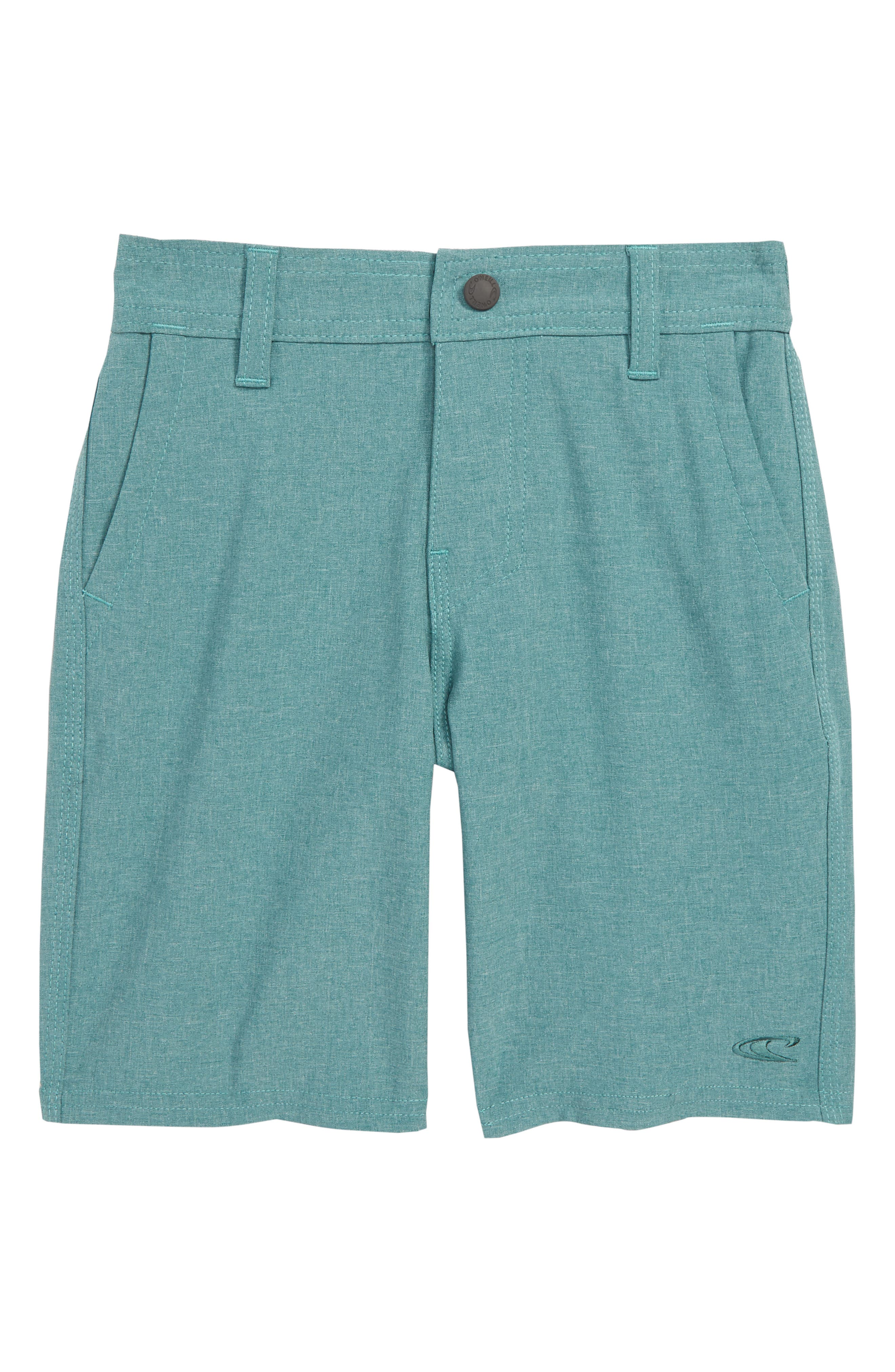 Loaded Heather Hybrid Board Shorts,                         Main,                         color, PINE