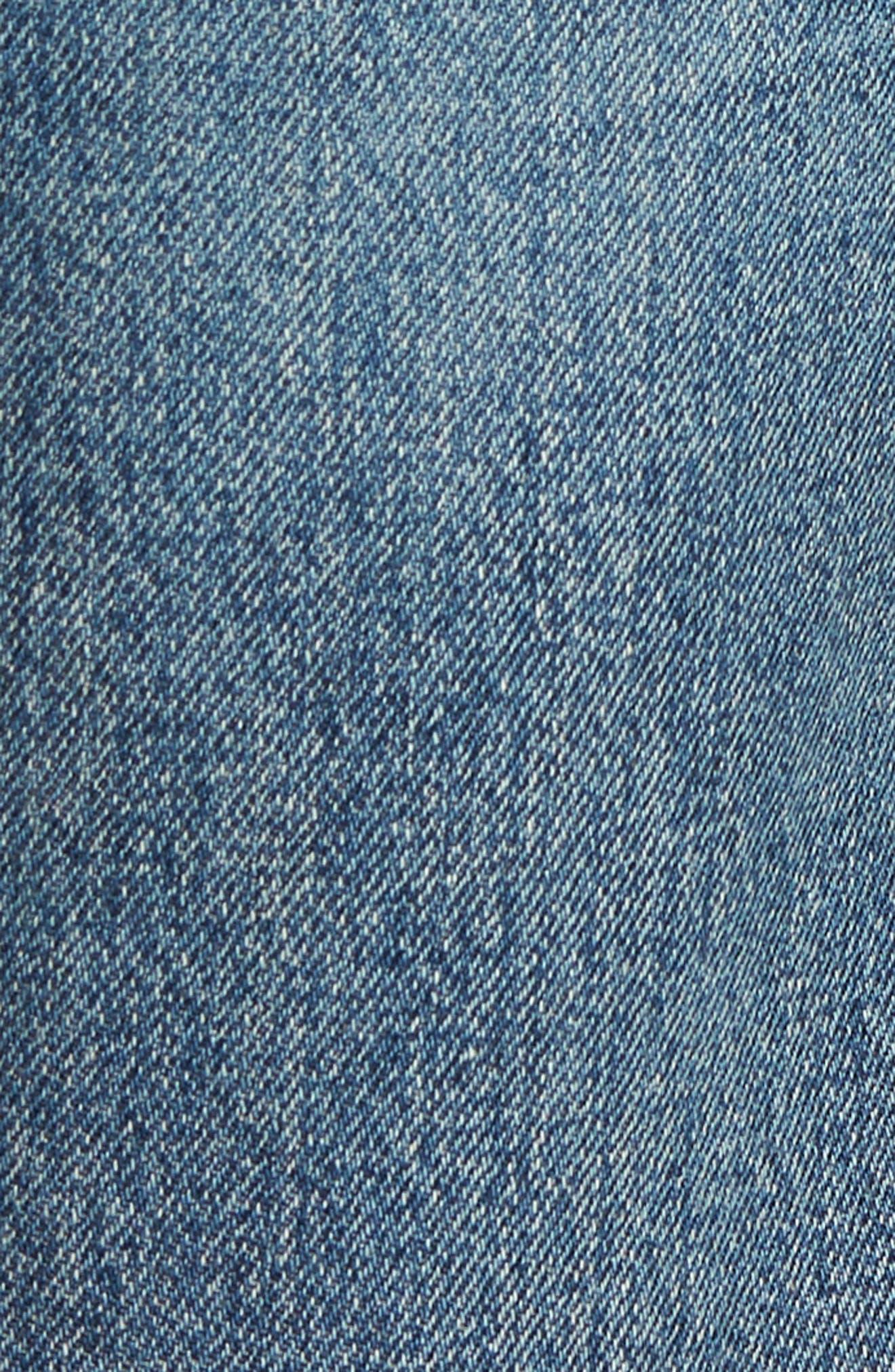 Emma High Waist Crop Wide Leg Jeans,                             Alternate thumbnail 6, color,                             428