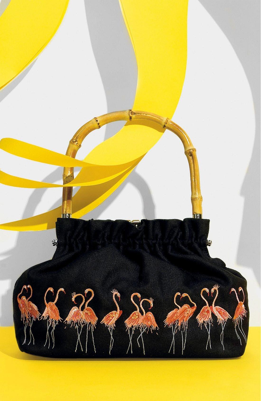 LULU GUINNESS 'Katrina' Flamingo Bag, Main, color, FGO