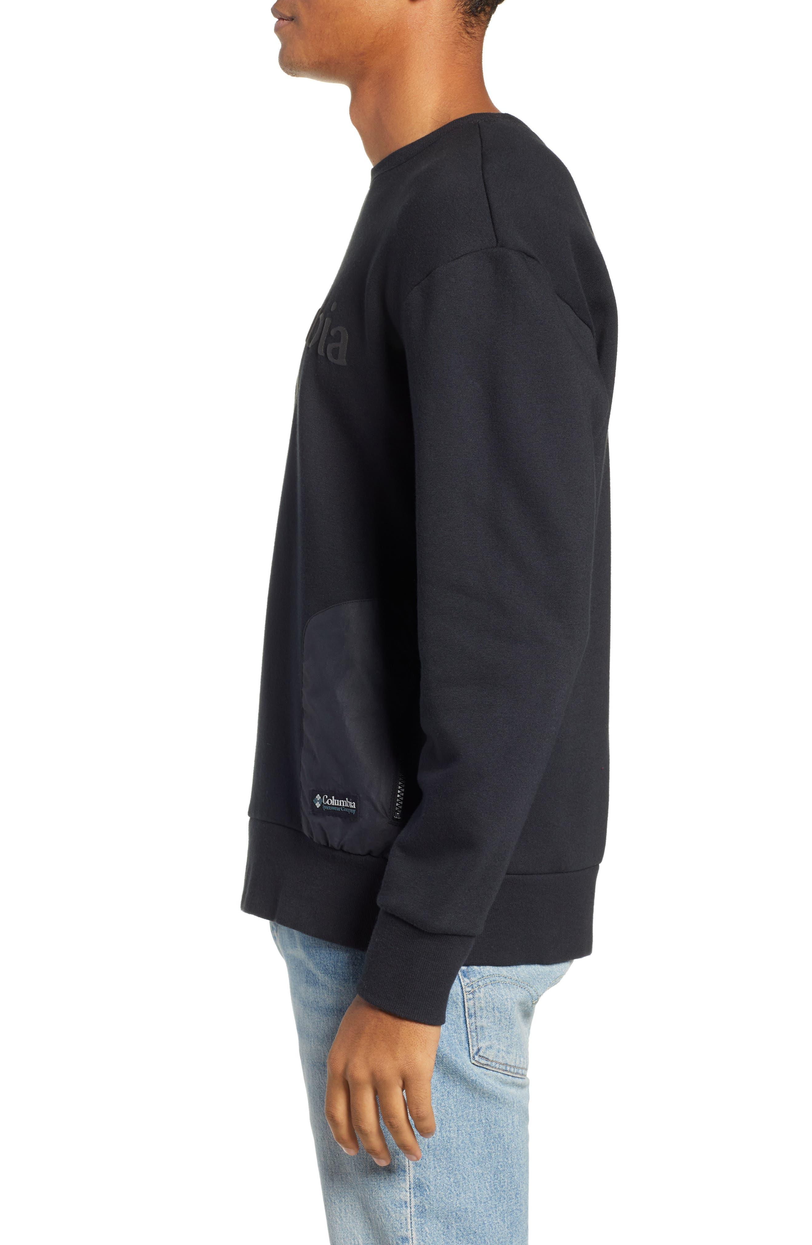 Bugasweat Crewneck Sweatshirt,                             Alternate thumbnail 3, color,                             BLACK