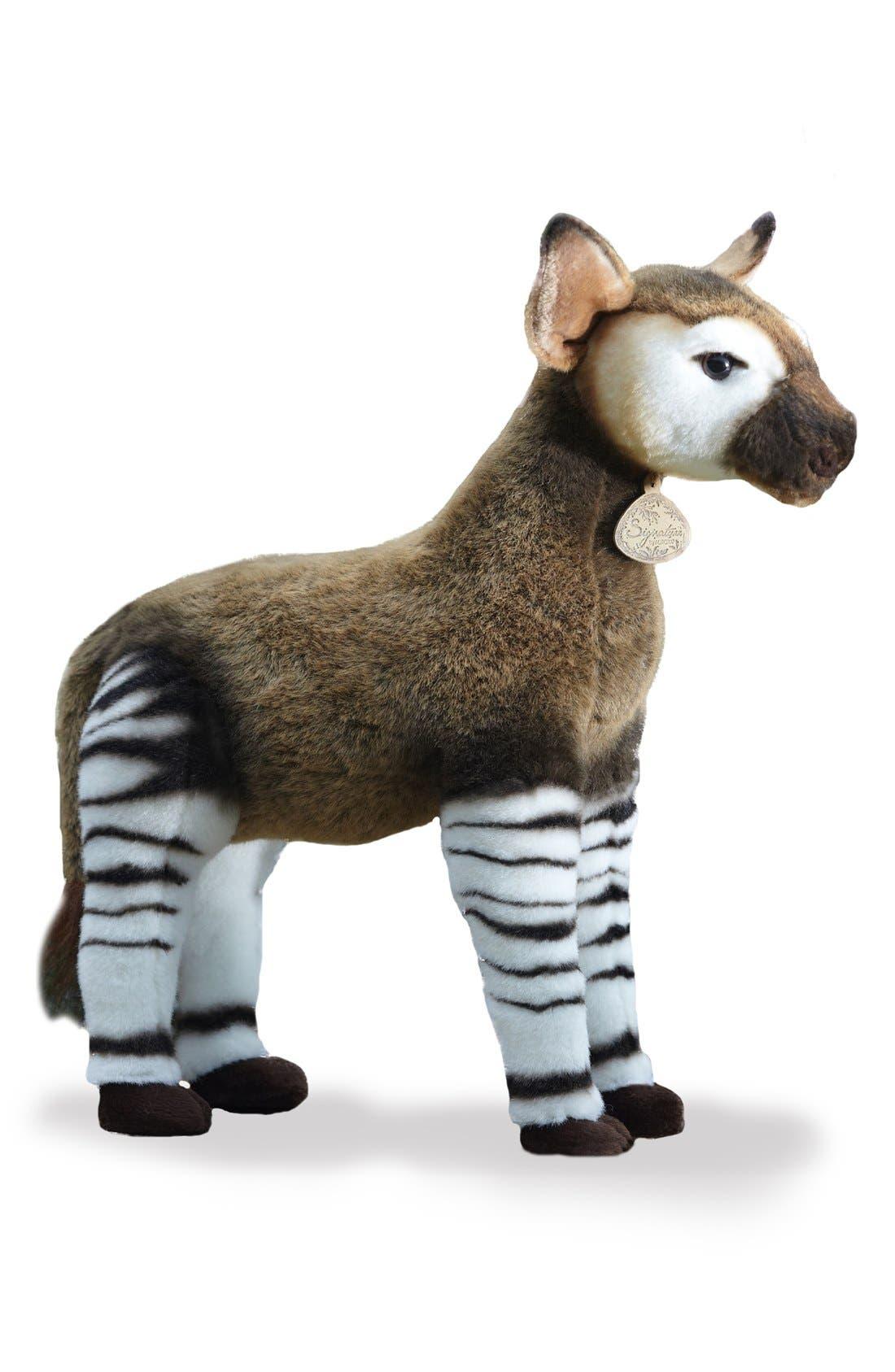 'Okapi' Stuffed Animal,                             Main thumbnail 1, color,                             BROWN