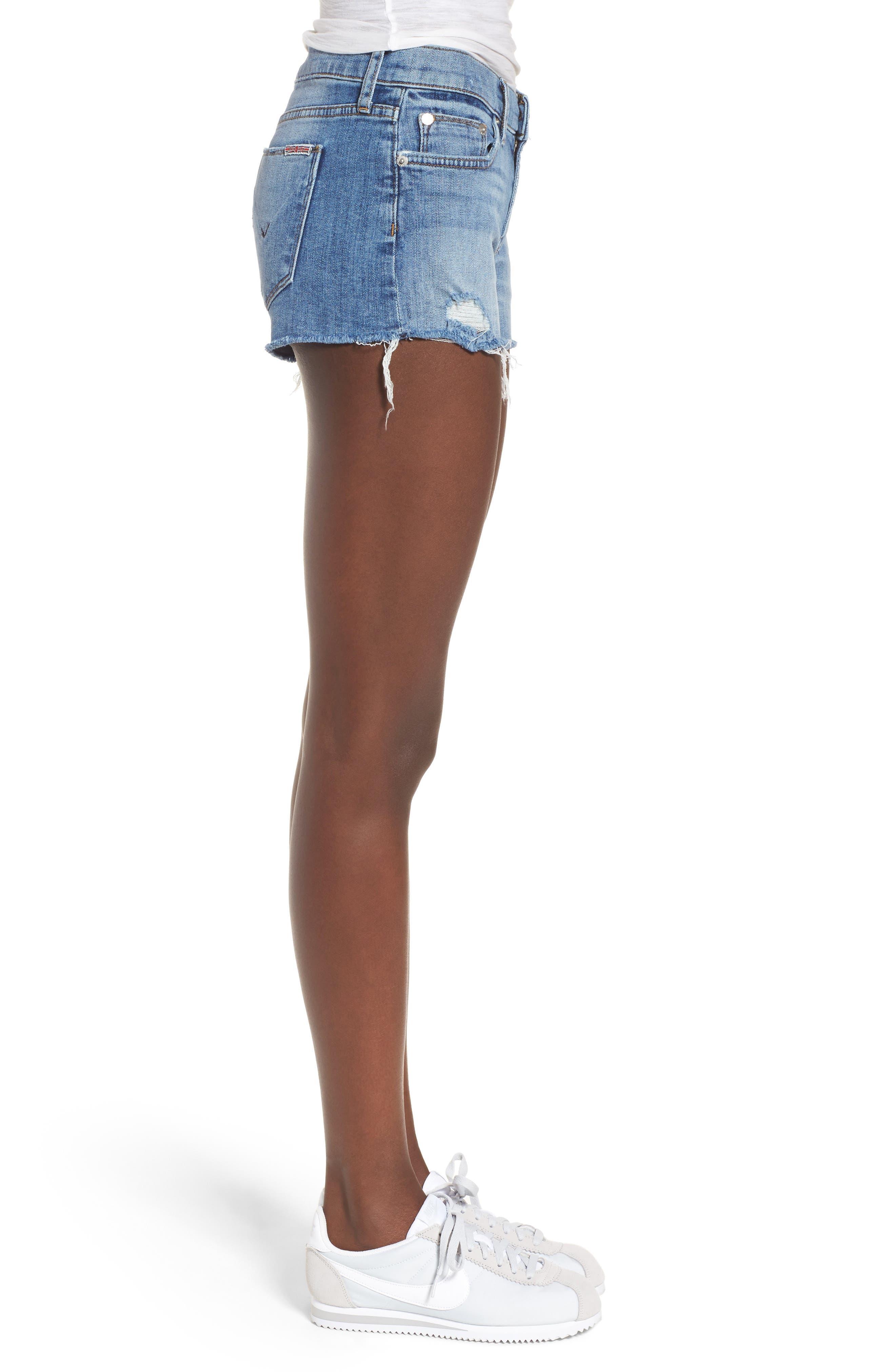 Kenzie Cutoff Denim Shorts,                             Alternate thumbnail 3, color,                             420