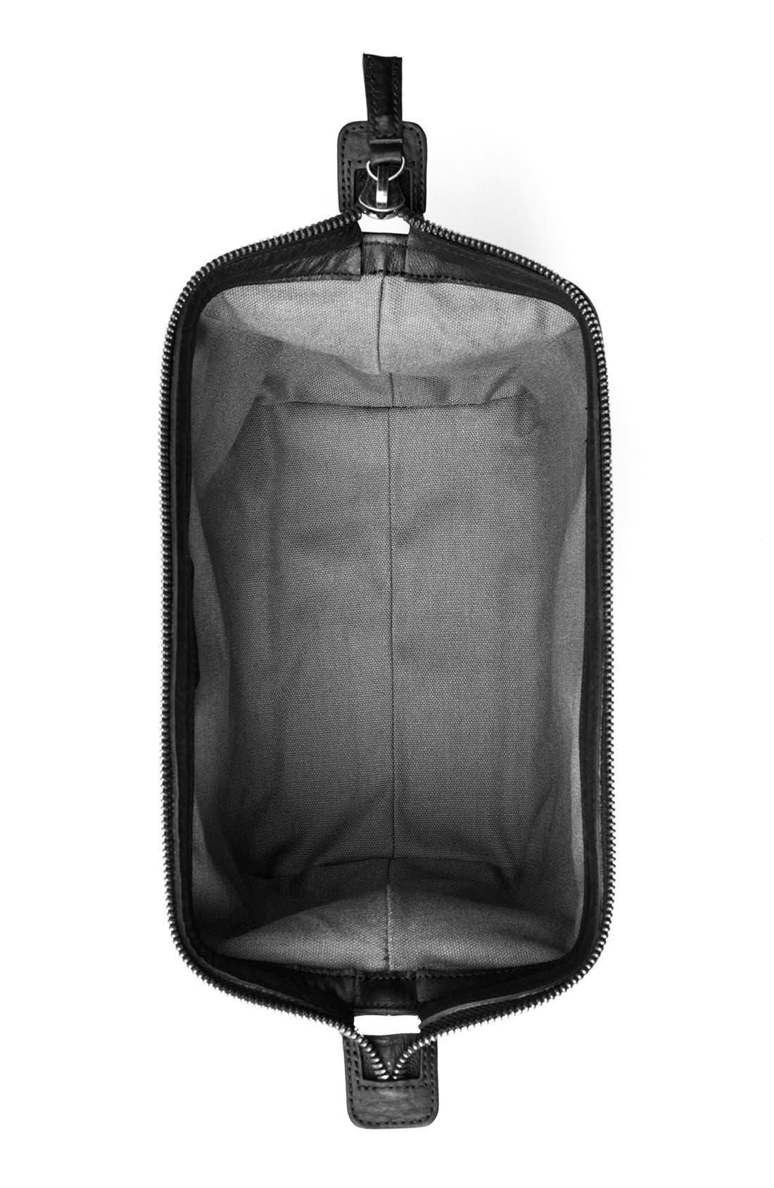 Leather Travel Kit,                             Alternate thumbnail 3, color,                             001