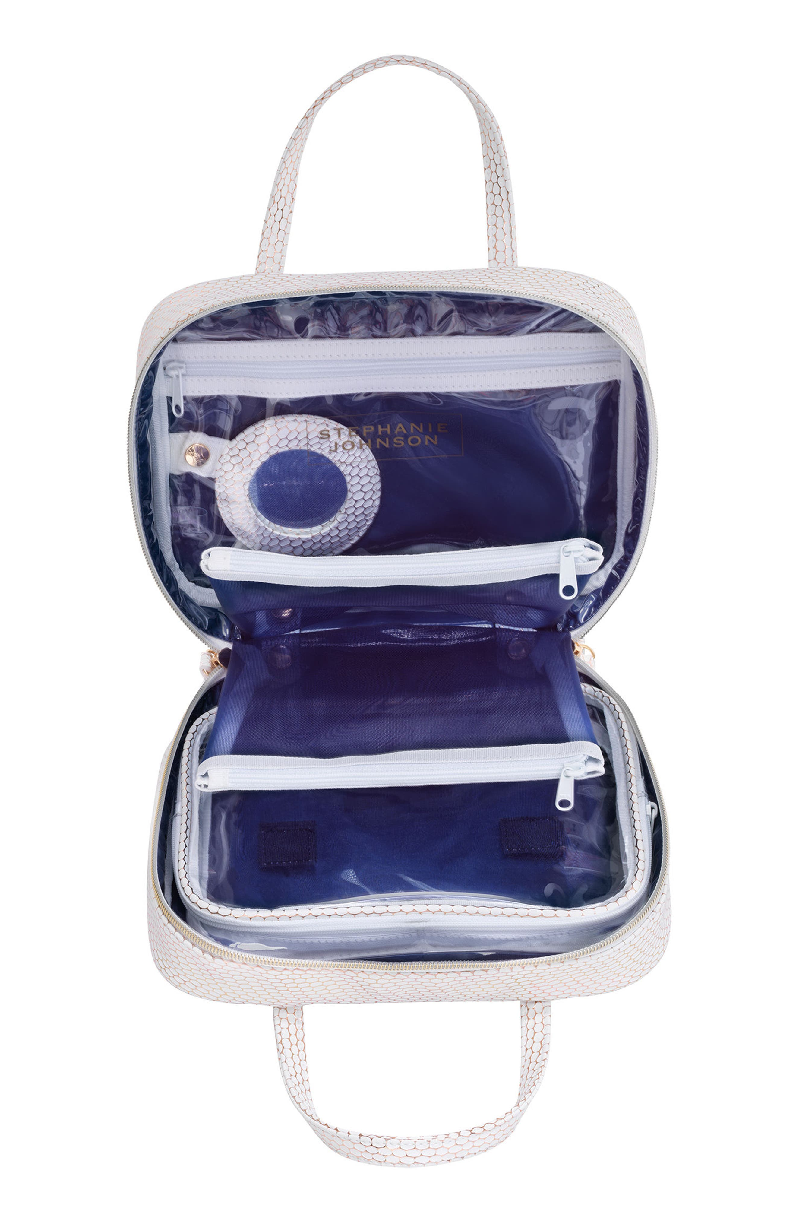 Havana Traveler Cosmetics Case,                             Alternate thumbnail 2, color,                             WHITE