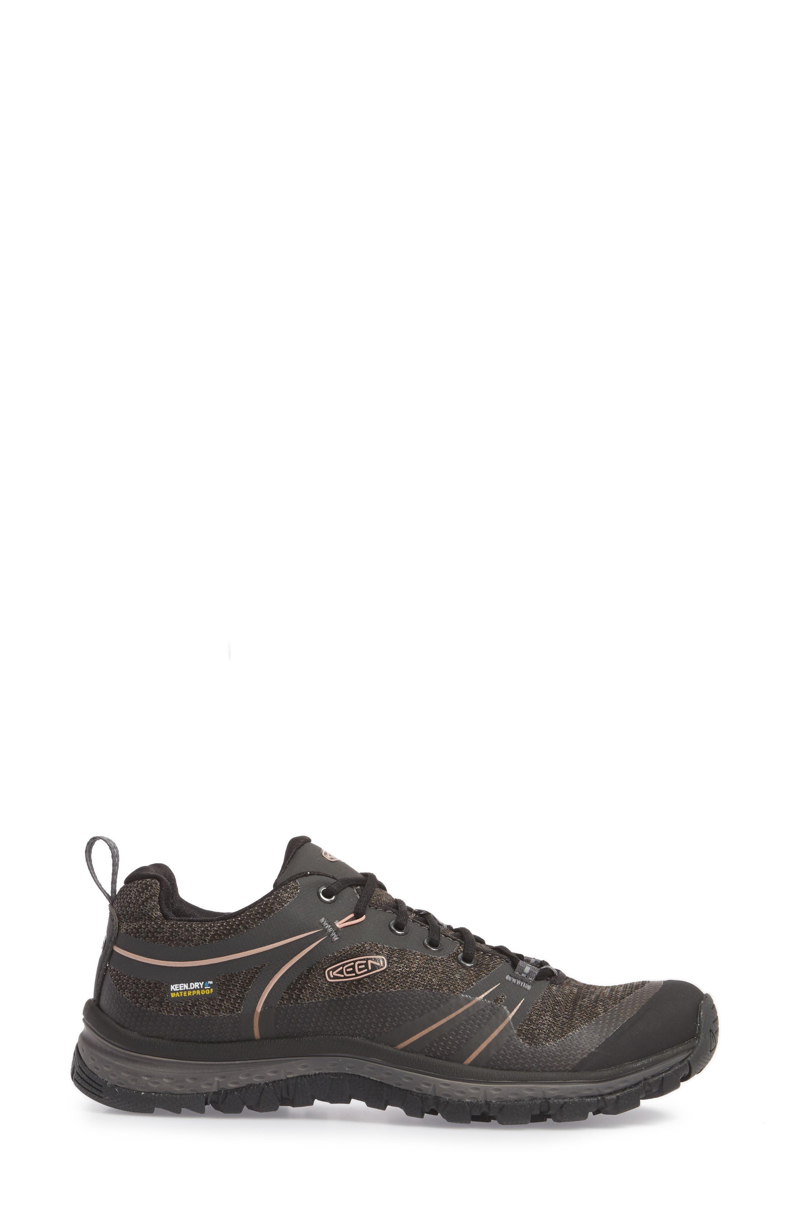 Terradora Waterproof Hiking Shoe,                             Alternate thumbnail 3, color,                             RAVEN/ ROSE DAWN