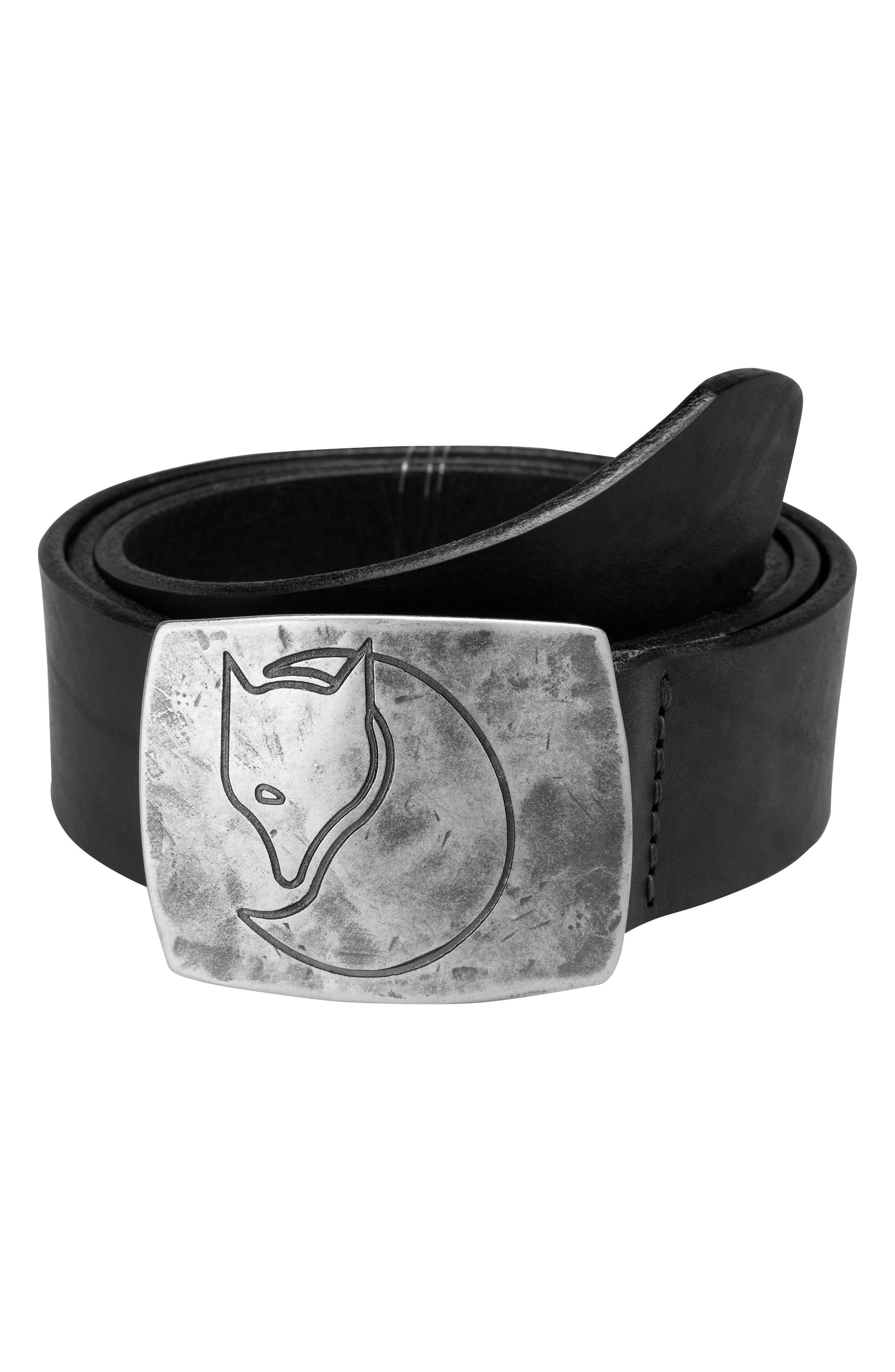 Murena Leather Belt,                         Main,                         color, 001