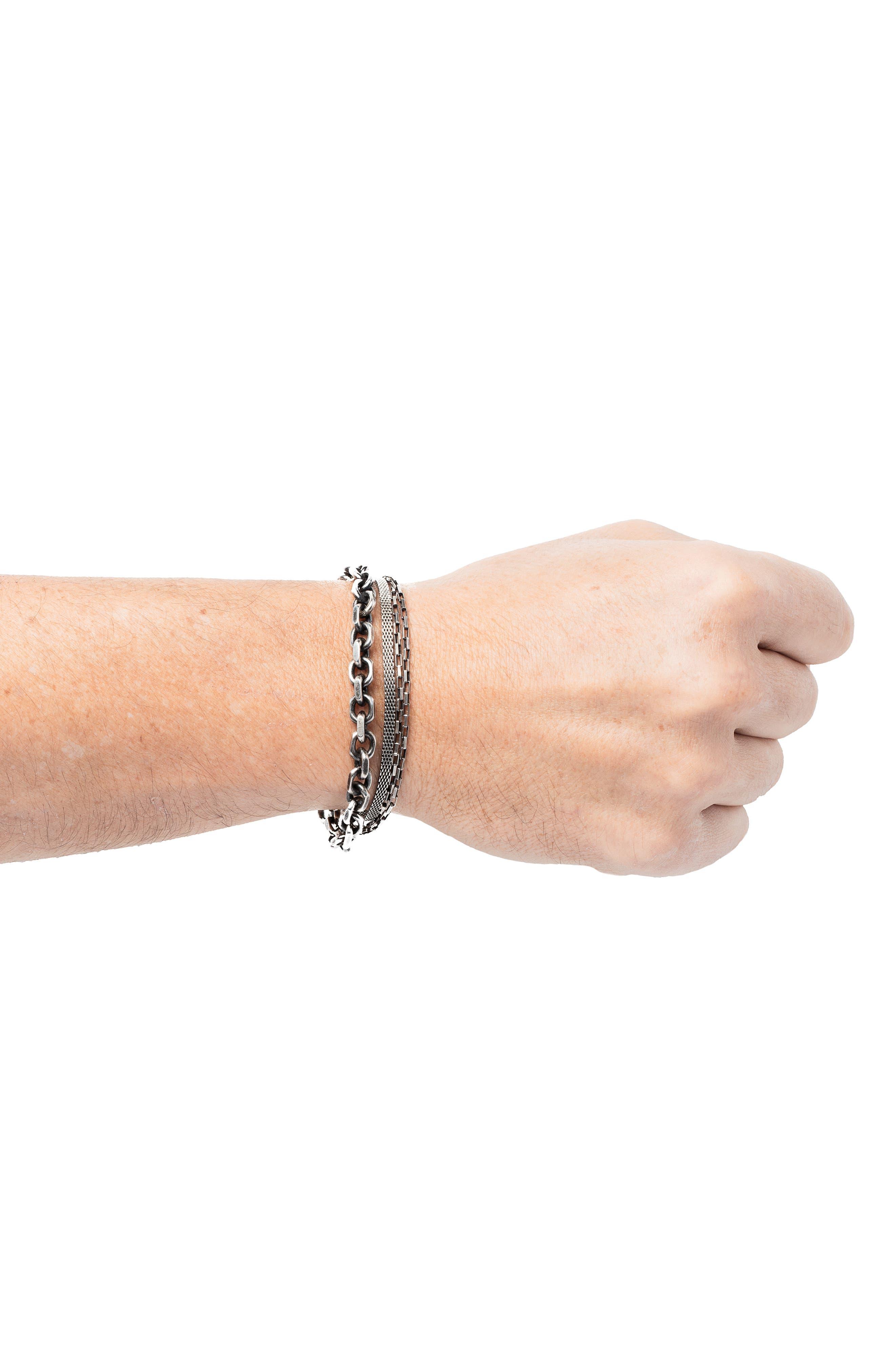 Triple Wrap Bracelet,                             Alternate thumbnail 2, color,                             SILVER