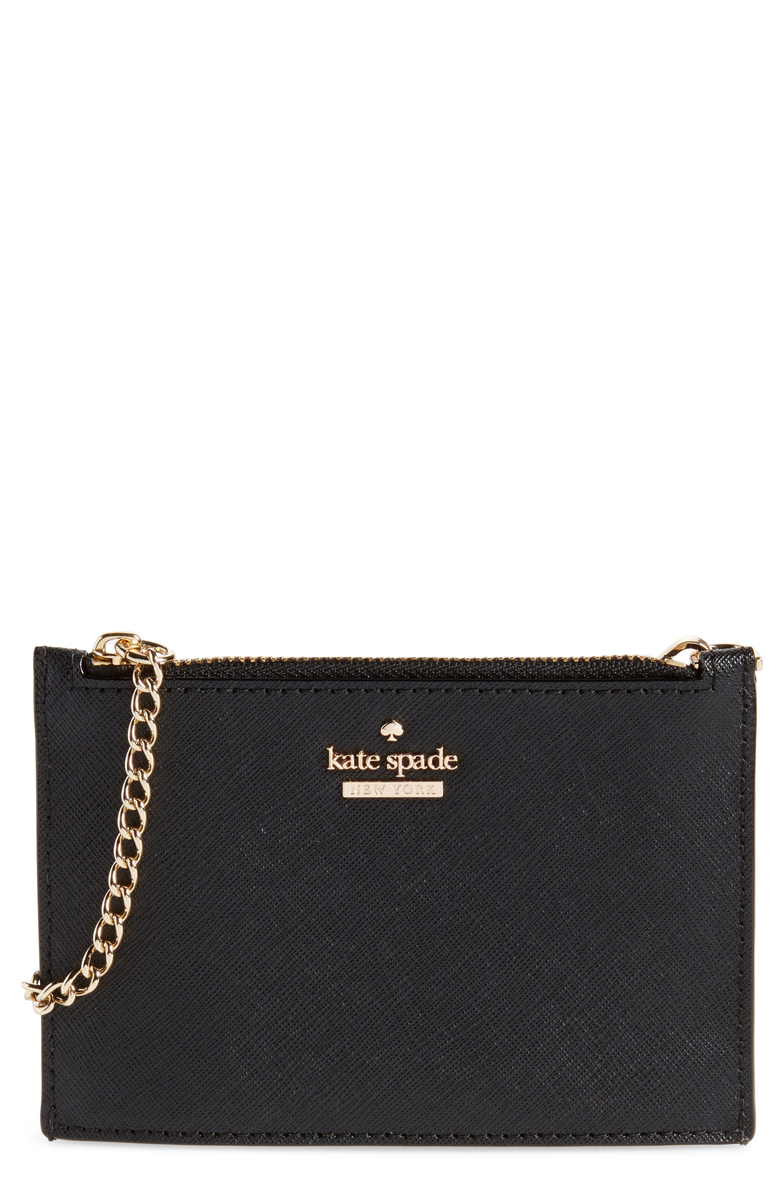cameron street caroline leather zip pouch,                         Main,                         color, 001