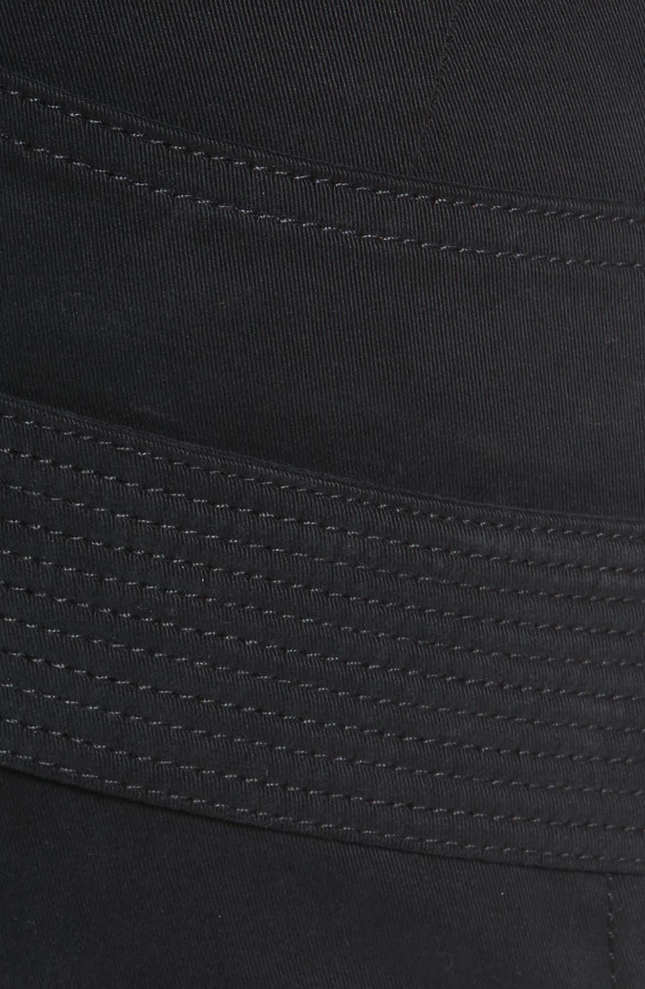 Zip Detail Twill Biker Pants,                             Alternate thumbnail 5, color,                             001