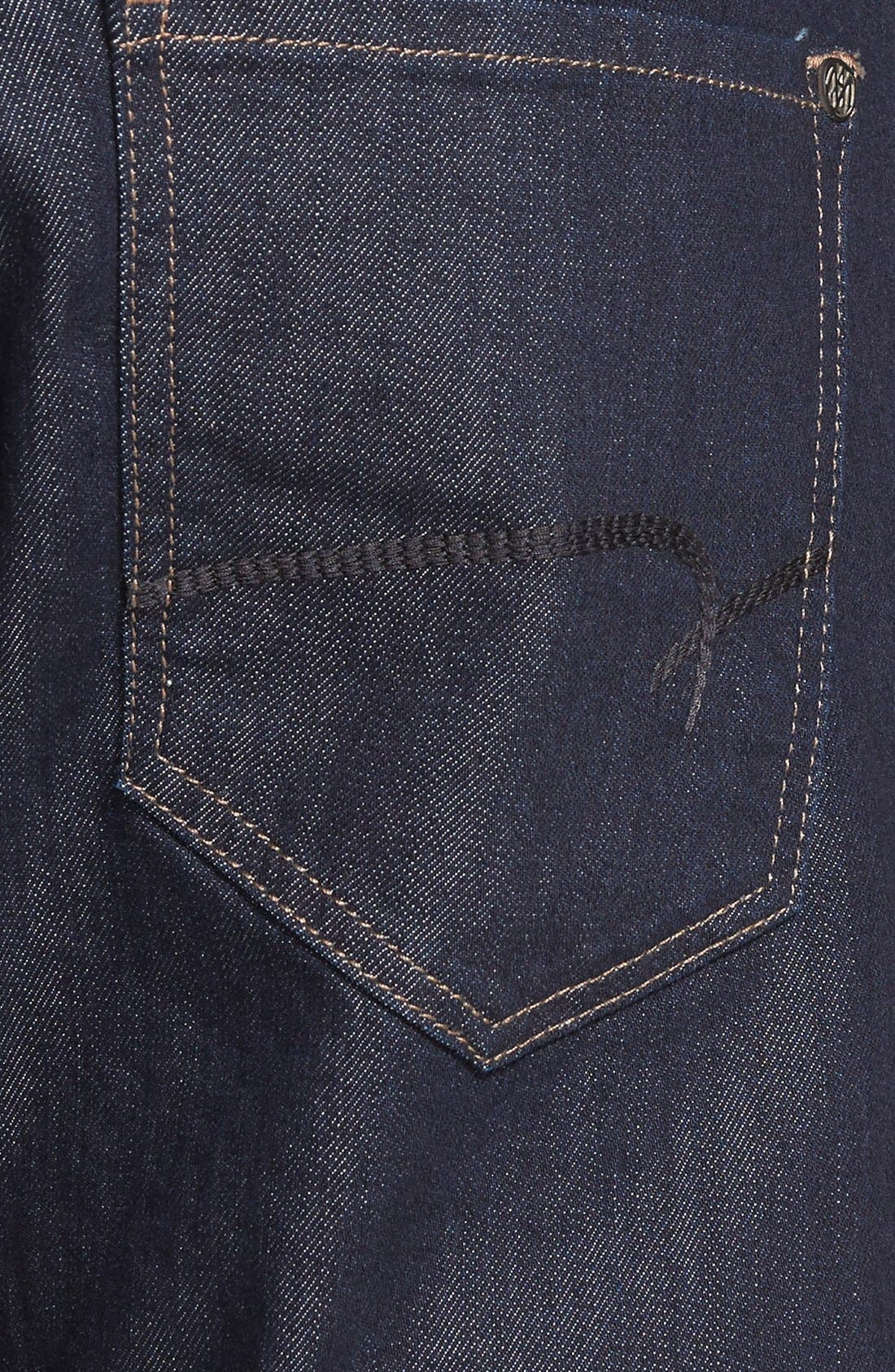 Zach Straight Leg Jeans,                             Alternate thumbnail 5, color,                             RINSE WILLIAMSBURG