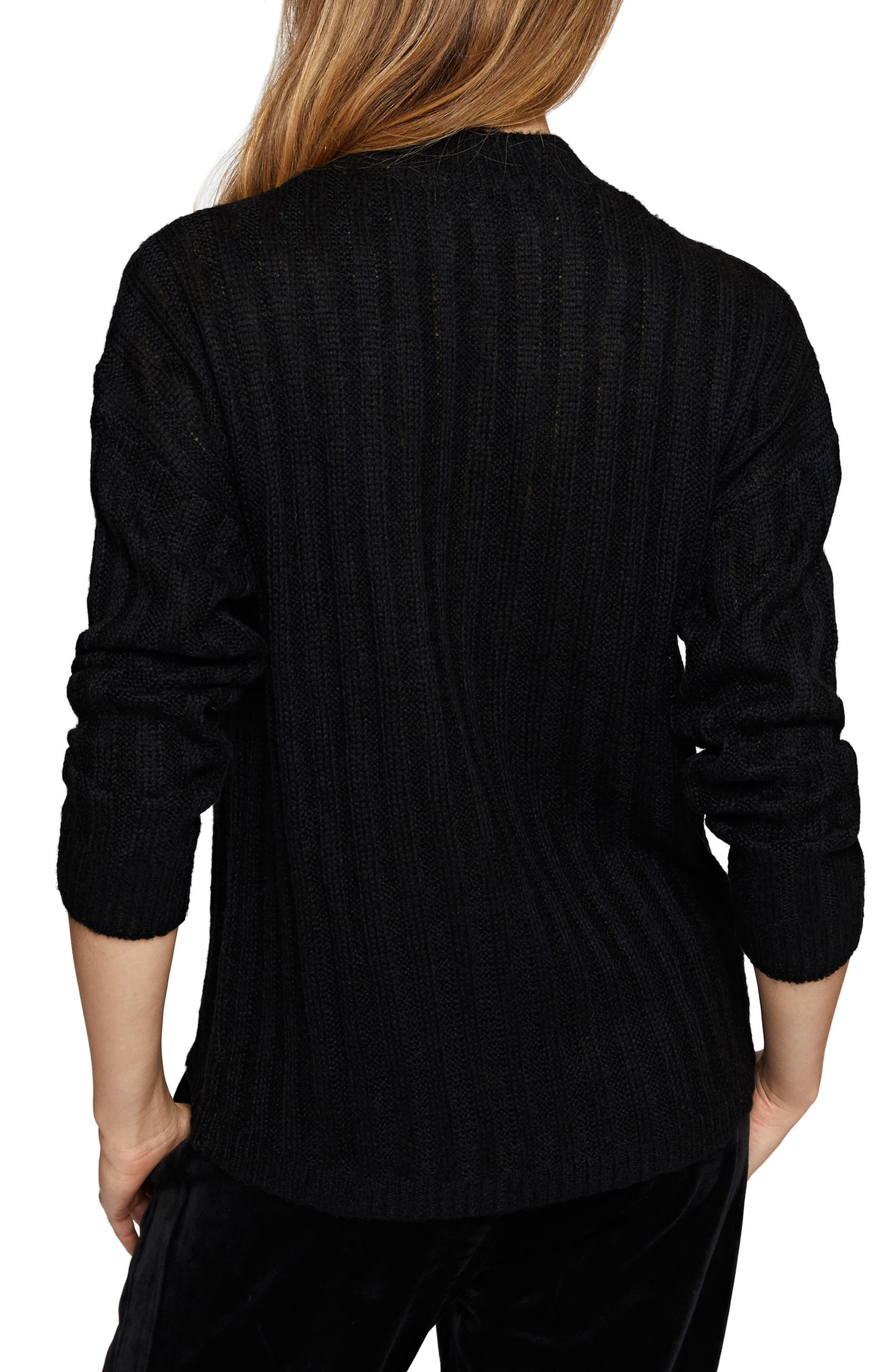 Sharon Choker Sweater,                             Alternate thumbnail 2, color,                             001