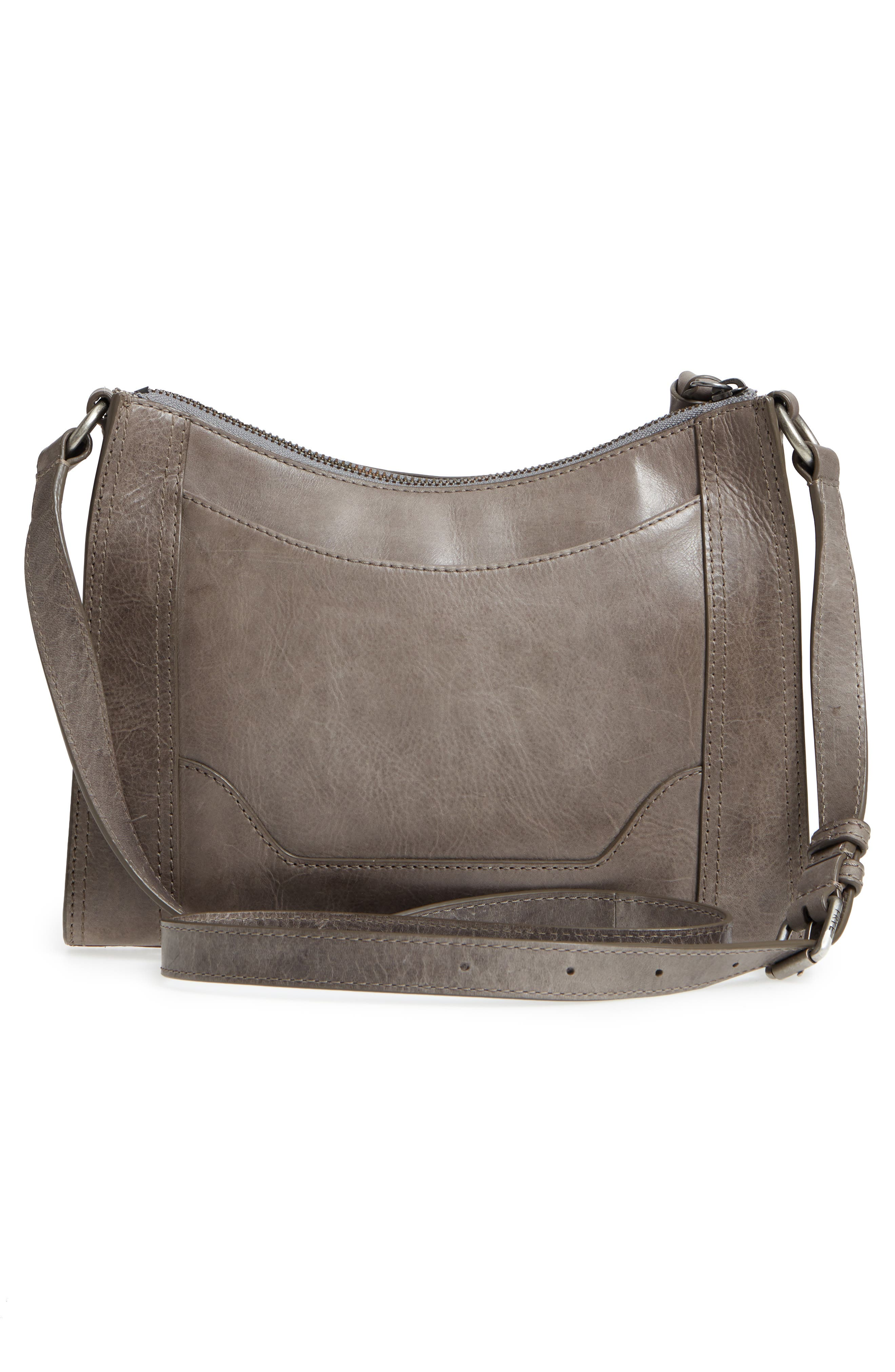 Melissa Leather Crossbody Bag,                             Alternate thumbnail 3, color,                             ICE